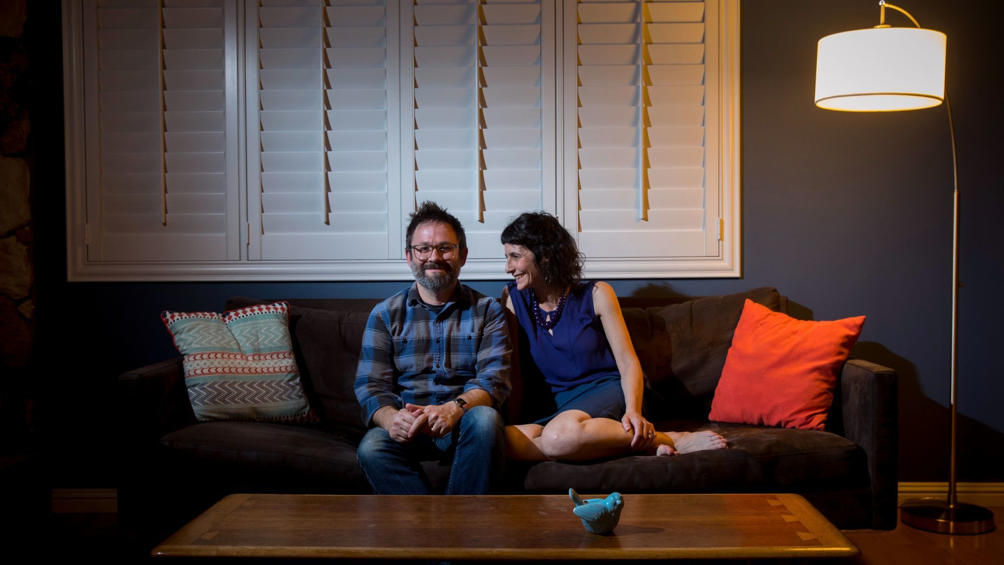 REDONDO BEACH,CA --TUESDAY, DECEMBER 05, 2017--Married couple Matt Pratt, a chemistry professor at U