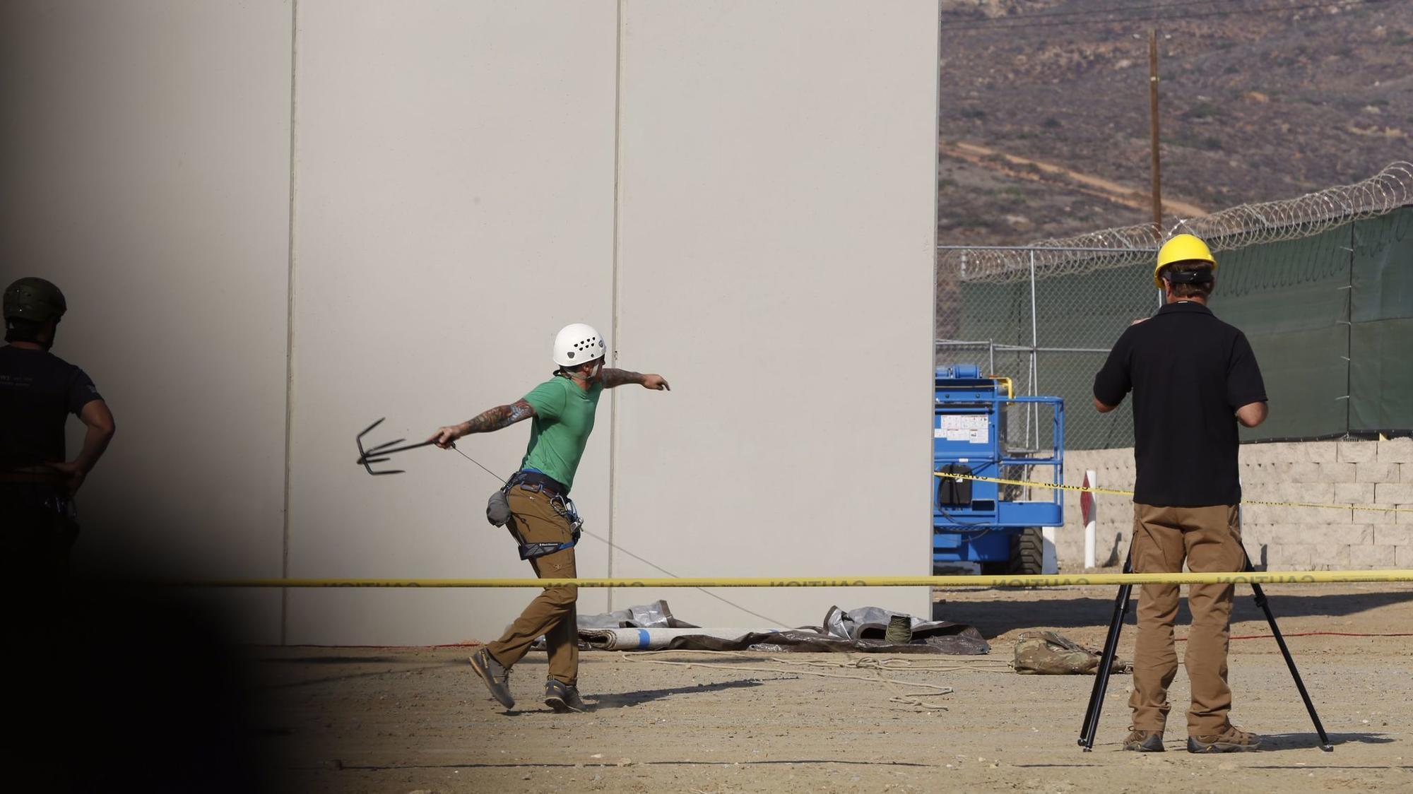 Border Wall Prototype Anti Climb Testing Begins The San