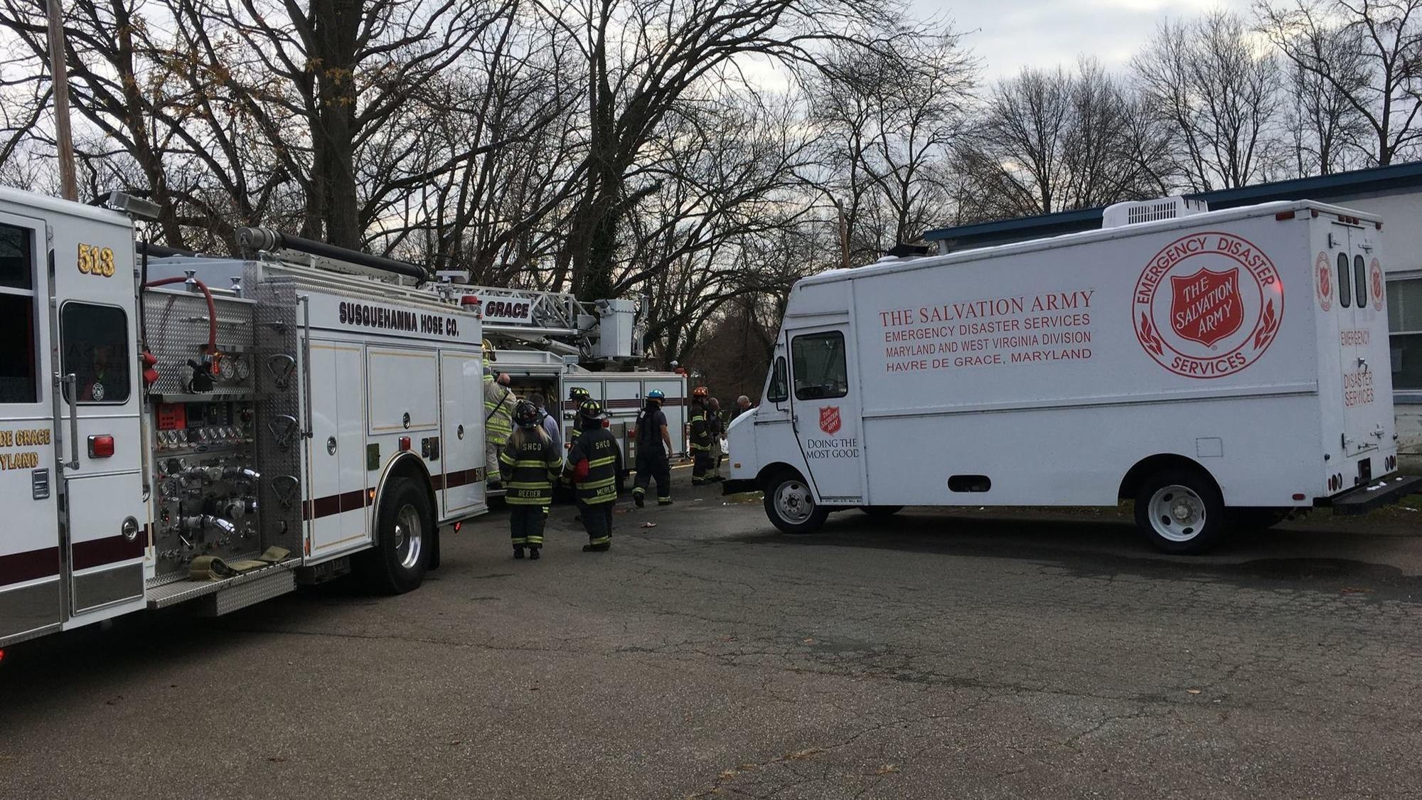 Fire Reported In Salvation Army Building In Havre De Grace