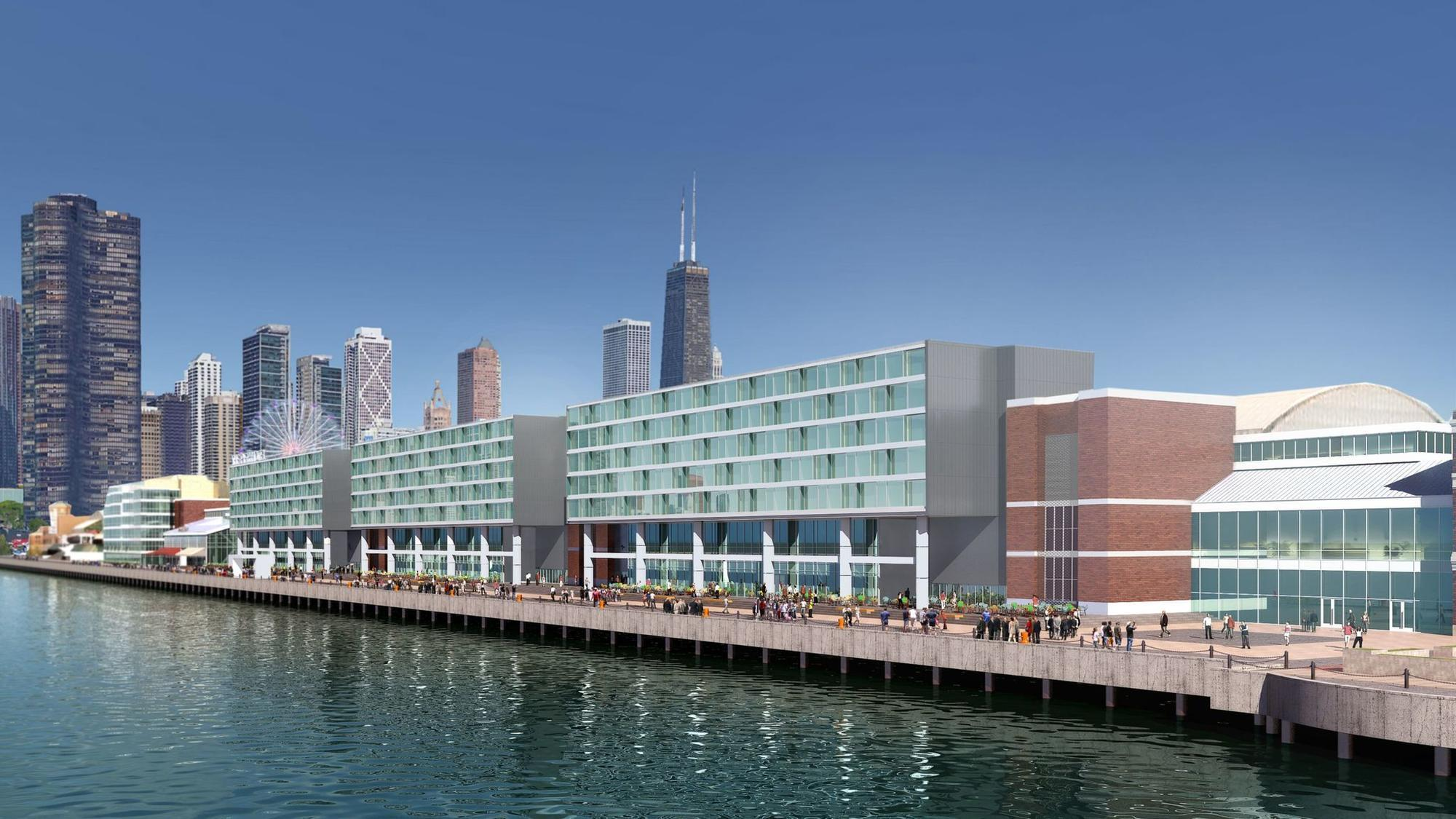 30 000 square foot rooftop restaurant and bar will crown new navy