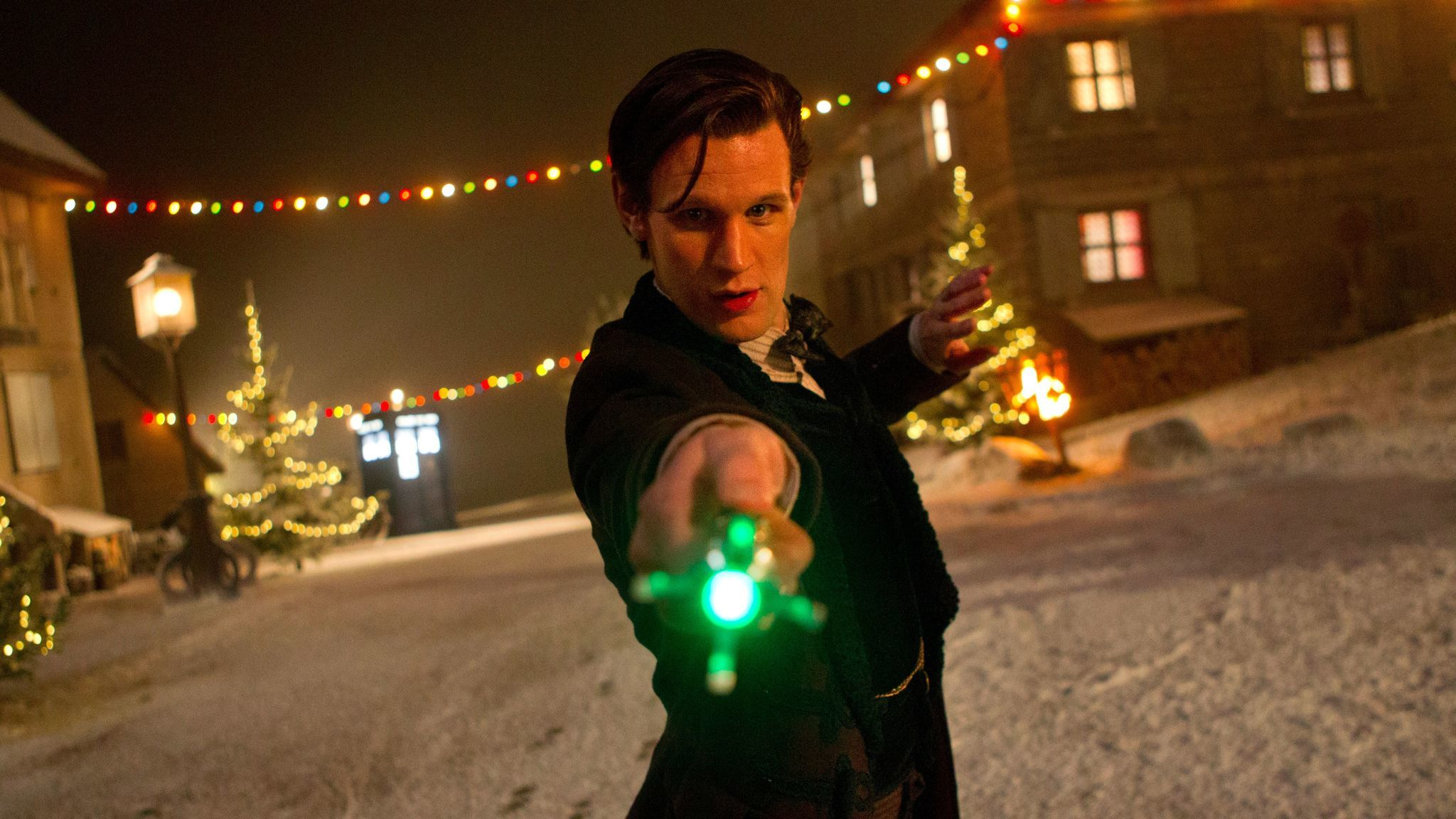 Matt Smith as the Eleventh Doctor in