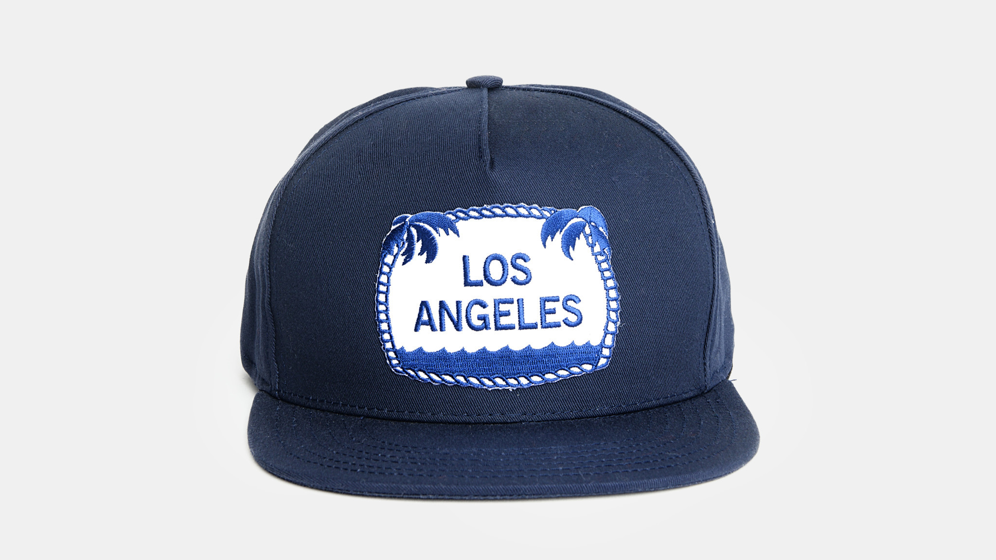 M. Carter cotton twill cap with embroidered Los Angeles .