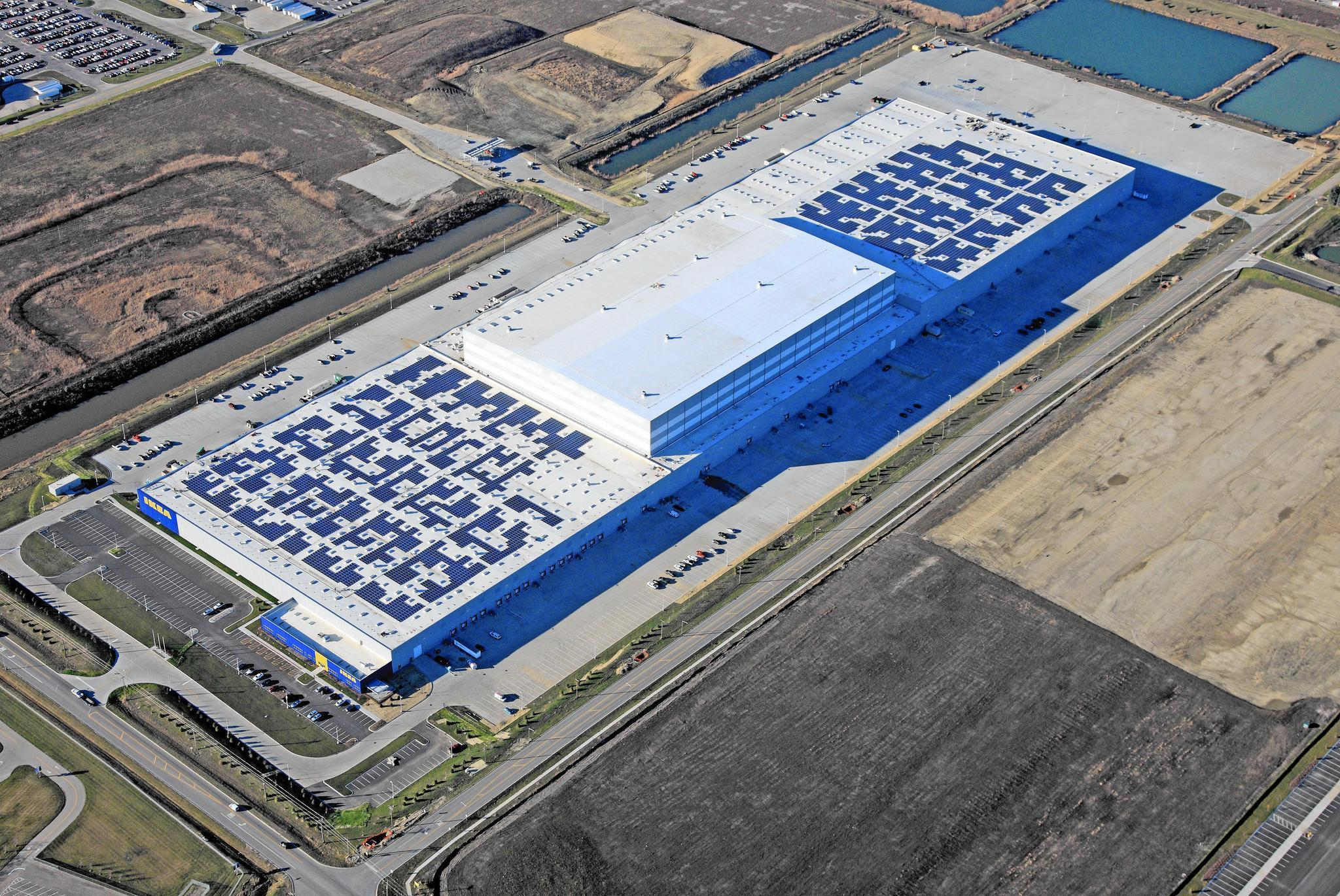 Ikea Completes State S Largest Solar Roof In Joliet Daily Southtown