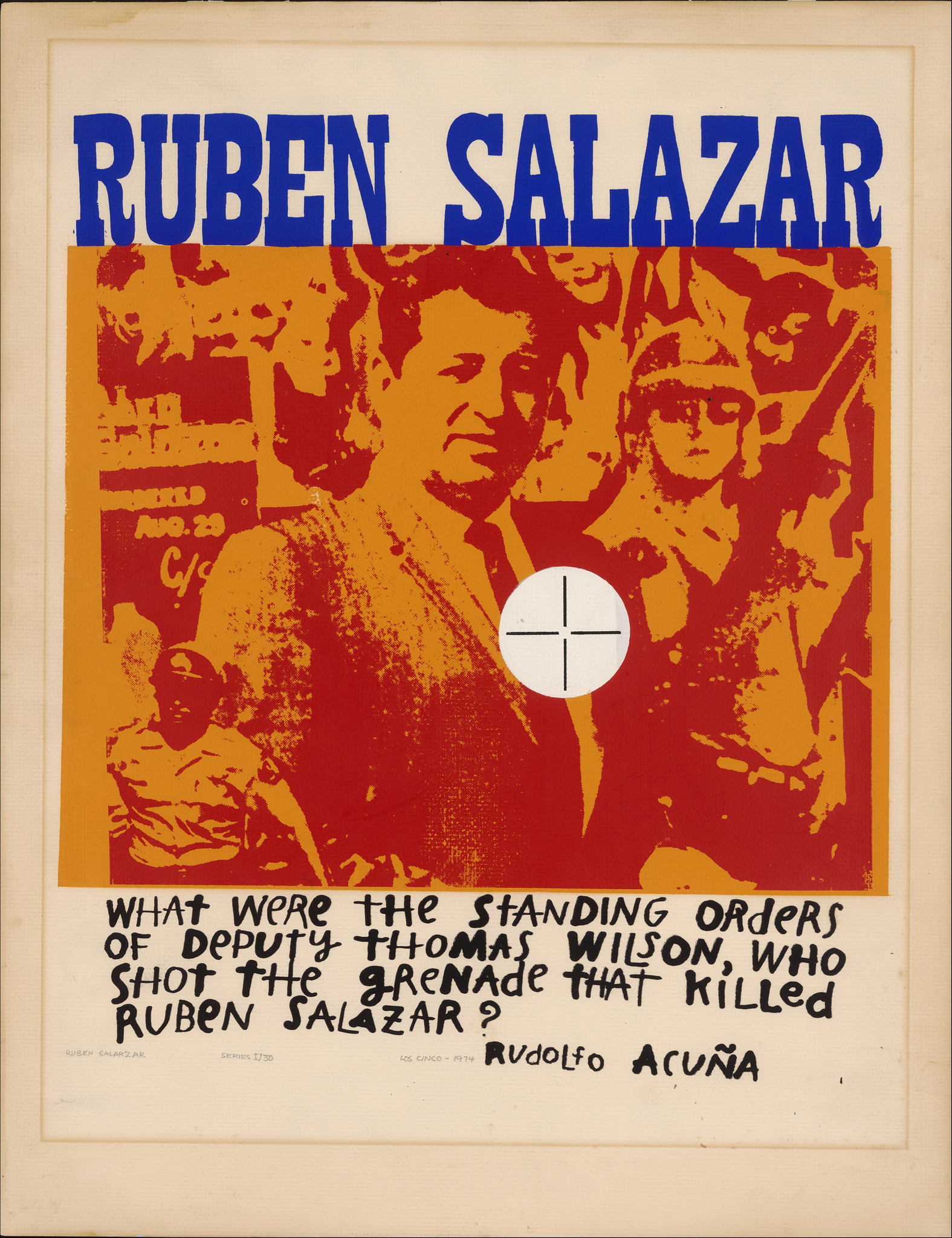Ruben Salazar by Rudolfo Acuña