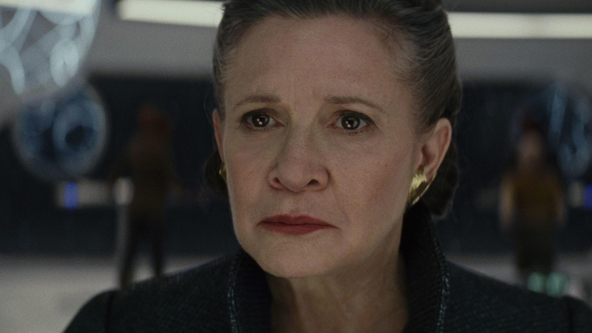 """Carrie Fisher as Gen. Leia Organa in 'Star Wars: The Last Jedi"""""""