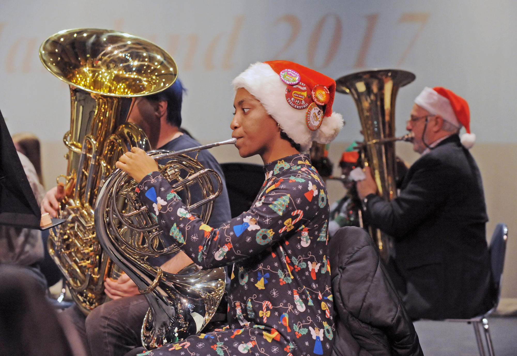 Bel Air Tuba Christmas Rings In The Season With Brassy