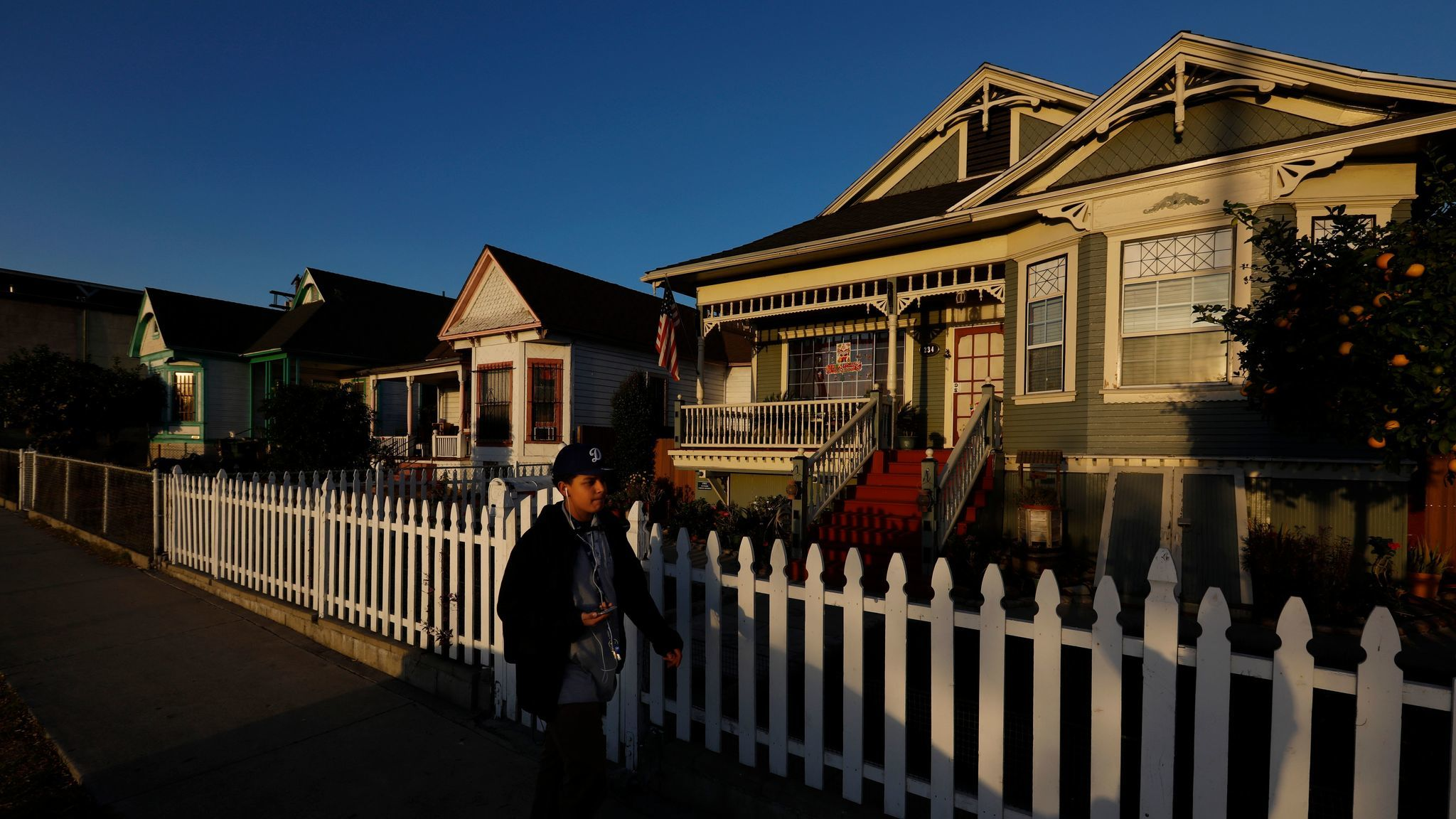 Victorian houses in the Lincoln Heights neighborhood of Los Angeles on Thursday.