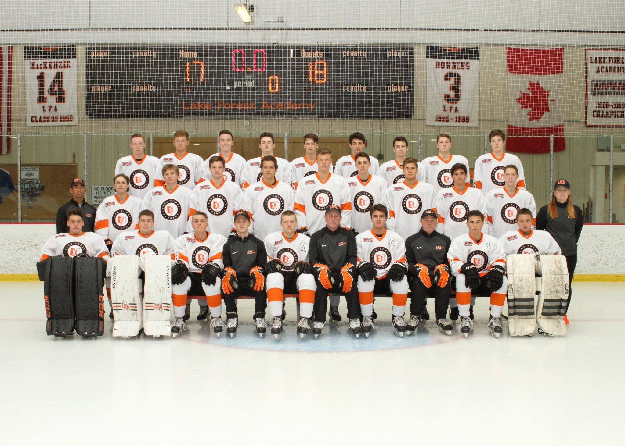 lfa prep hockey team hits the road for top shelf competition