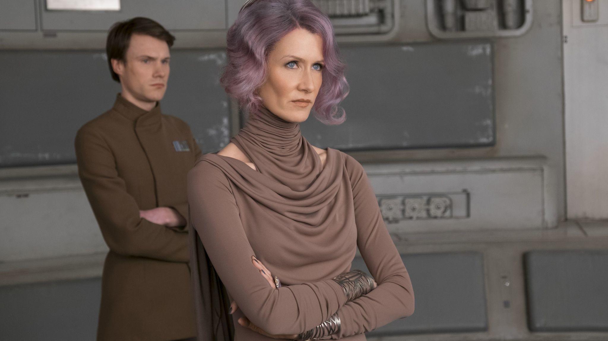 "Laura Dern as Vice Adm. Holdo in ""Star Wars: The Last Jedi"""