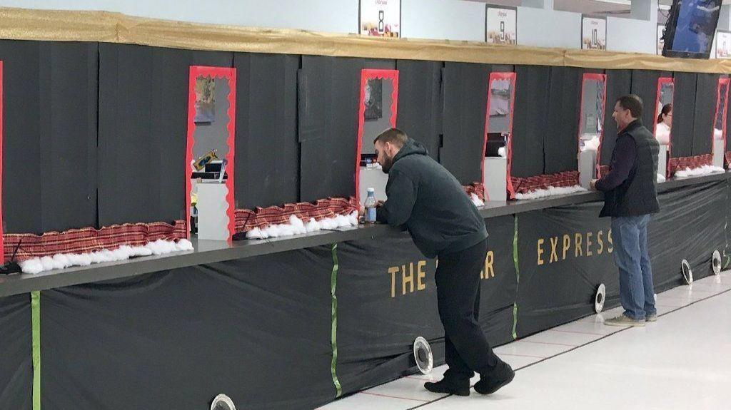 Bel Air Mva Decorated In Polar Express Theme For
