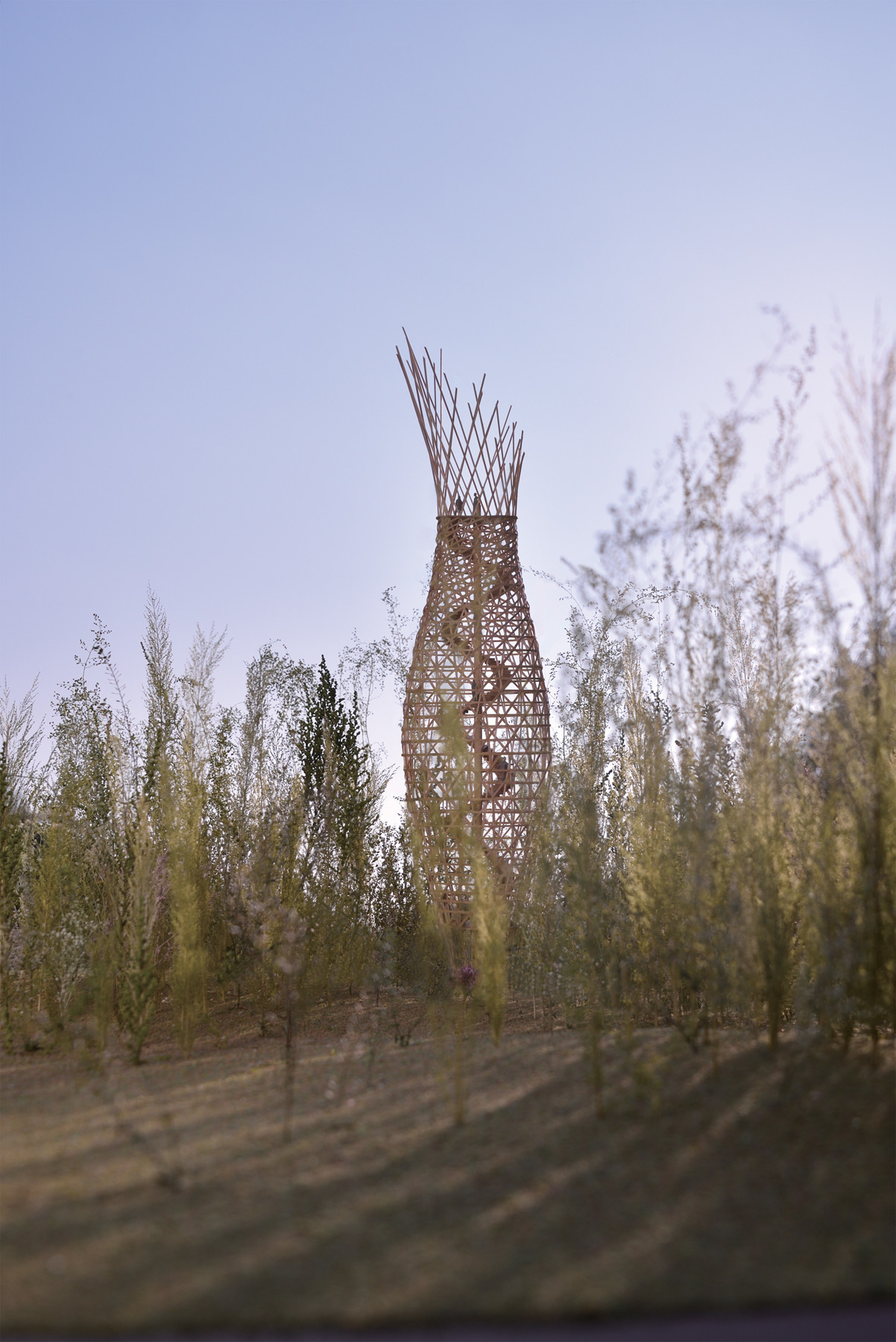 "A more current rendering of Jae-Eun Choi's tower design for ""Dreaming of Earth."""