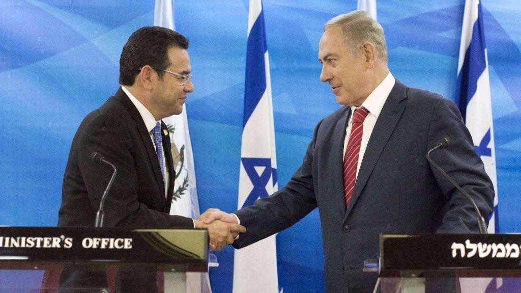 Guatemala is moving its embassy in Israel to Jerusalem, president says