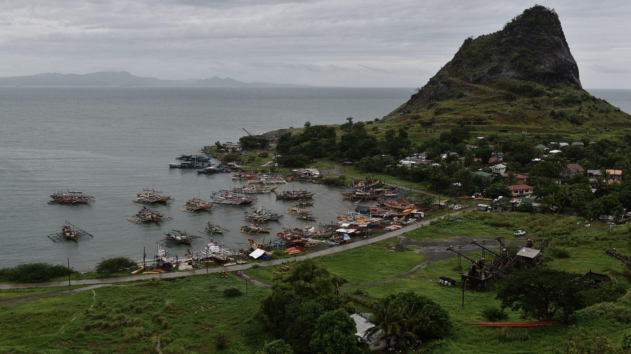 A small fishing village in Mariveles, Bataan, not far from the Mariveles coal-fired plant.