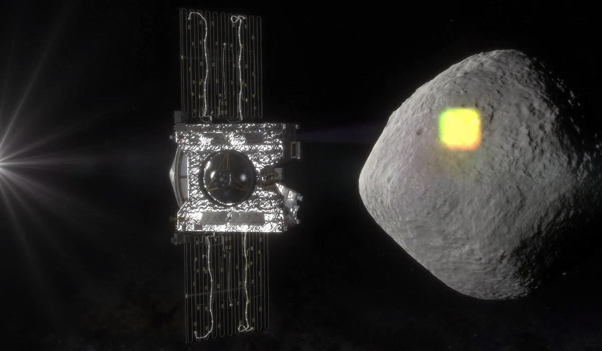 OSIRIS-REx scans Bennu