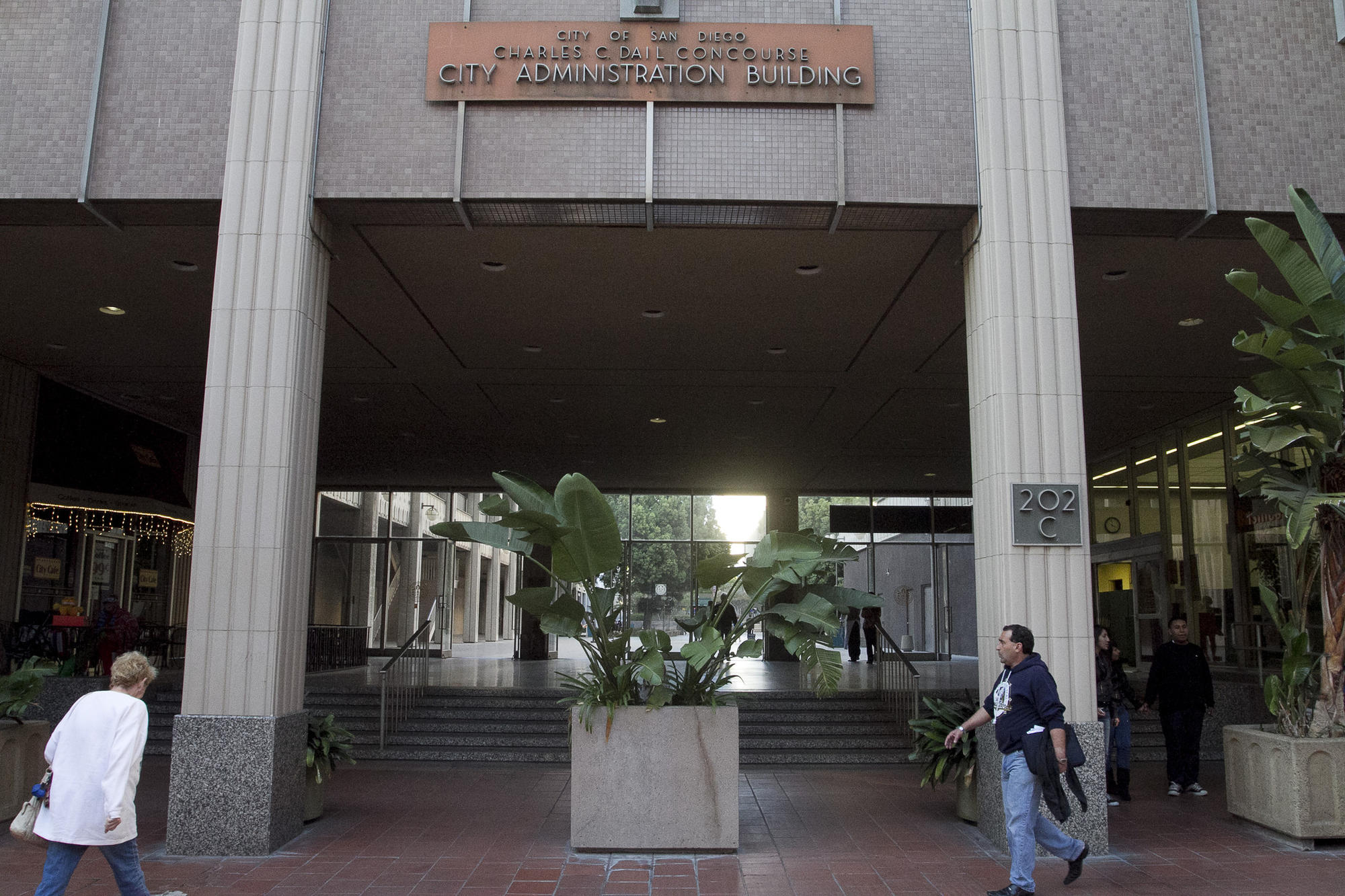 San Diego Administration Building and Community Concourse at 202 C Street.