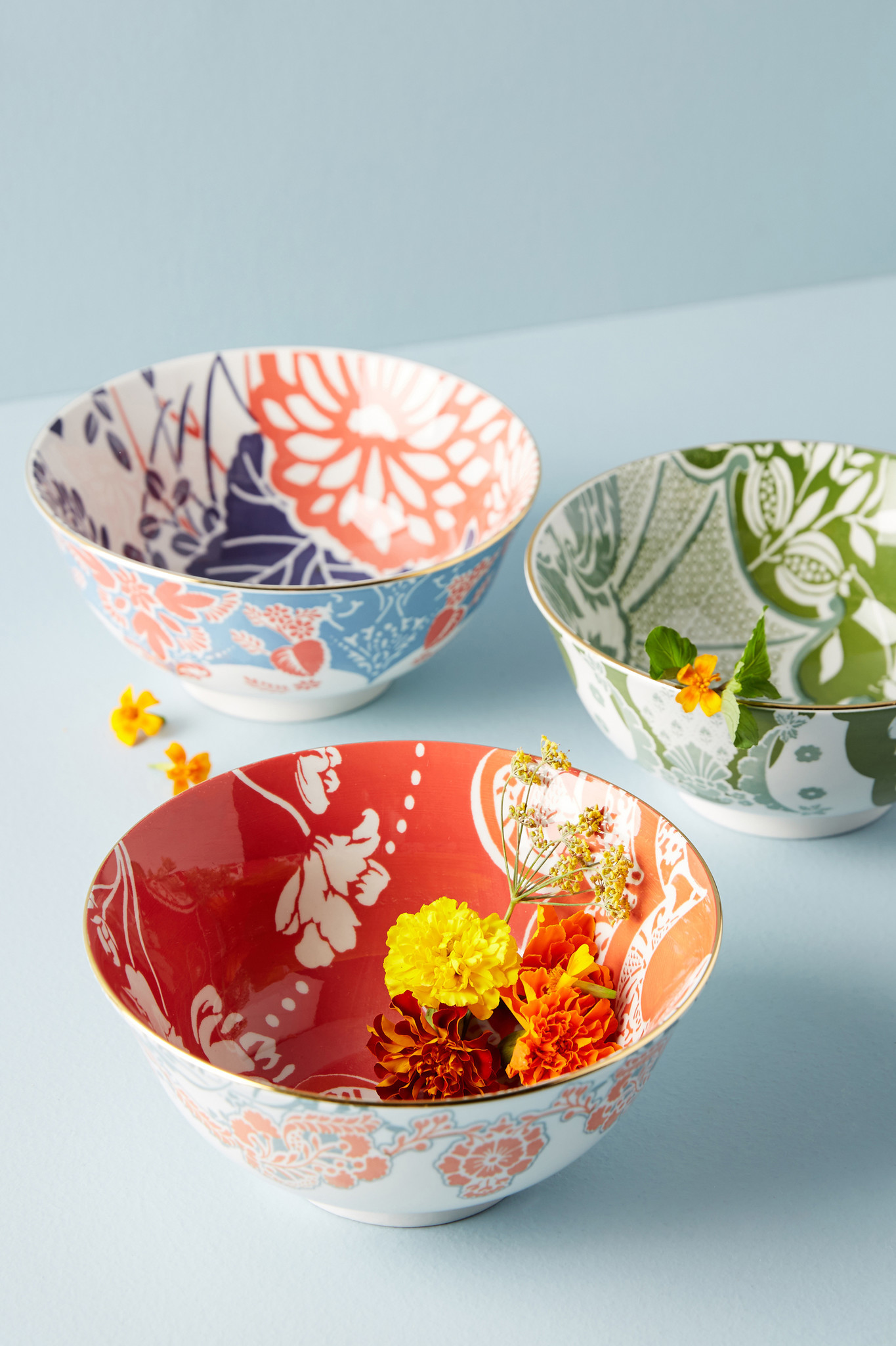 Bowl Game: Evanie cereal bowls, $14 each at Anthropologie. Credit: Anthropologie