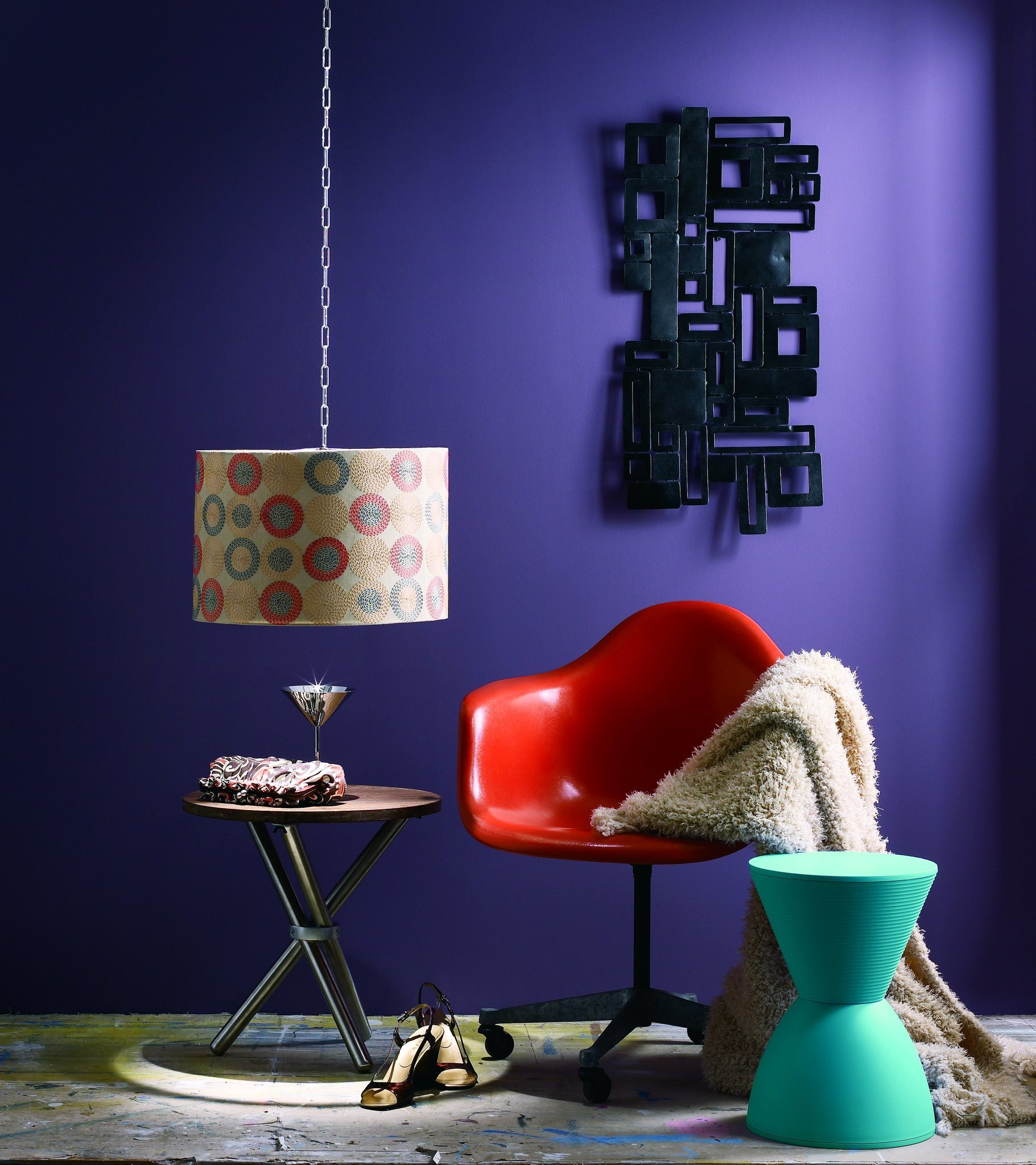 Maximalism: Texture, pattern, comfort and Pantone's 2018 color of the year, Ultra Violet. Paint col