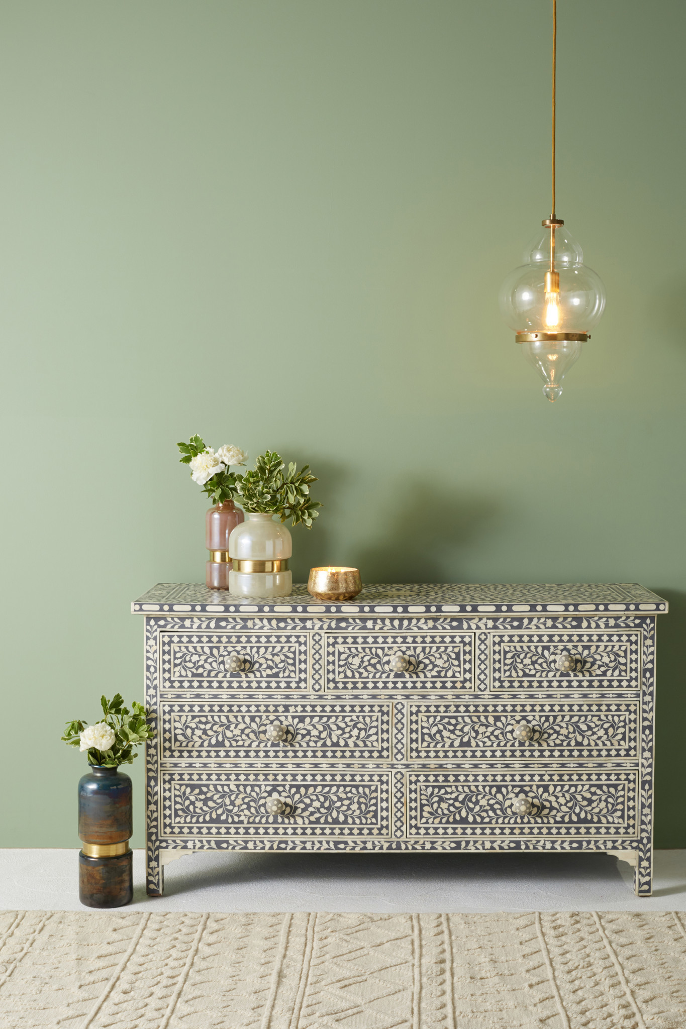 Decorative Design: Bone inlay dresser, $2,498 at Anthropologie. Credit: Anthropologie