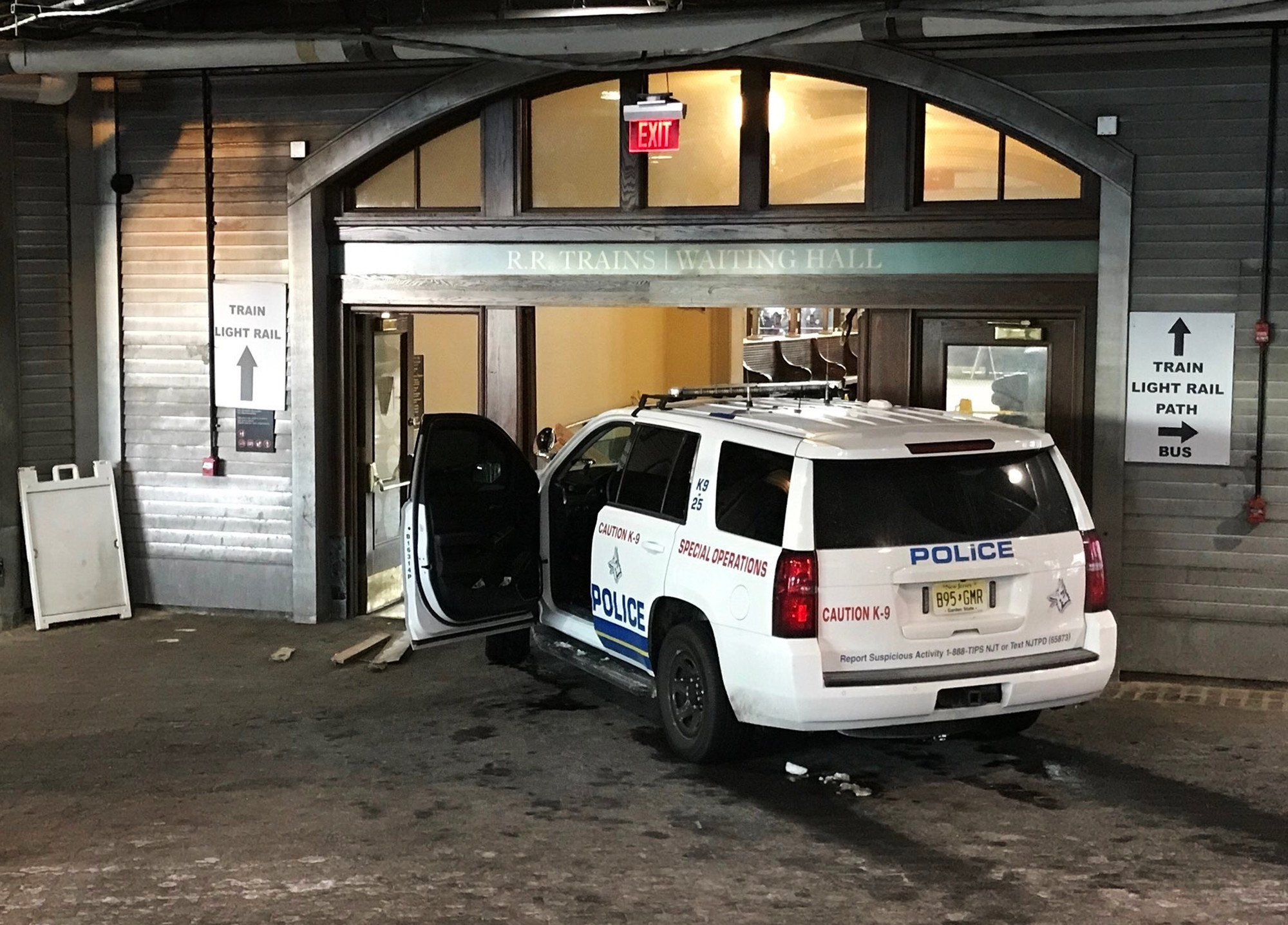 No injuries after person steals police SUV in New Jersey