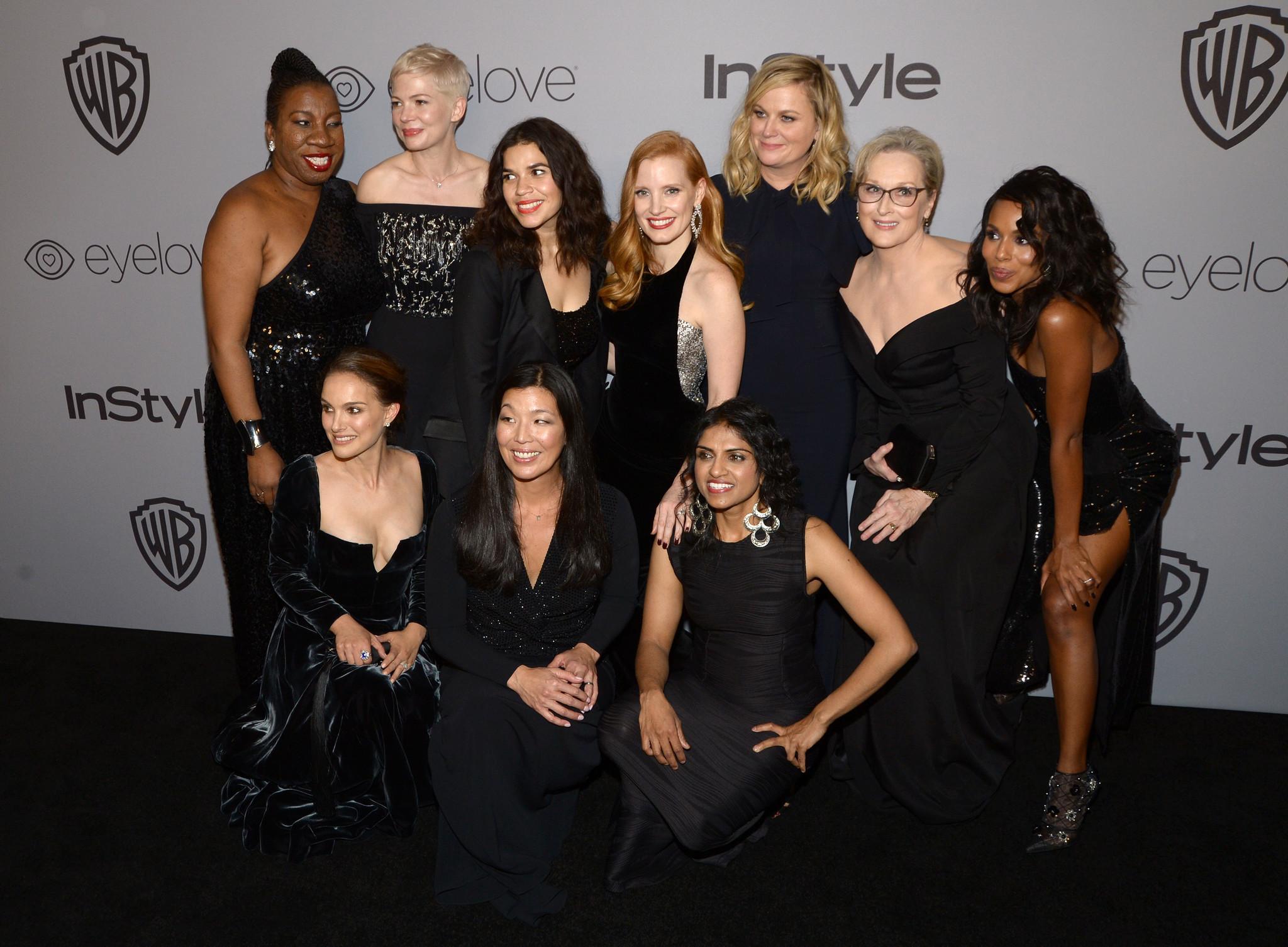Rosa Clemente, Michelle Williams, America Ferrera, Jessica Chastain, Amy Poehler, Meryl Streep and Kerry Washington