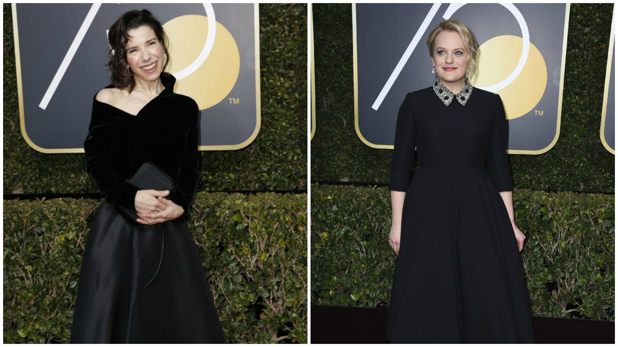 Sally Hawkins and Elisabeth Moss wearing Dior.
