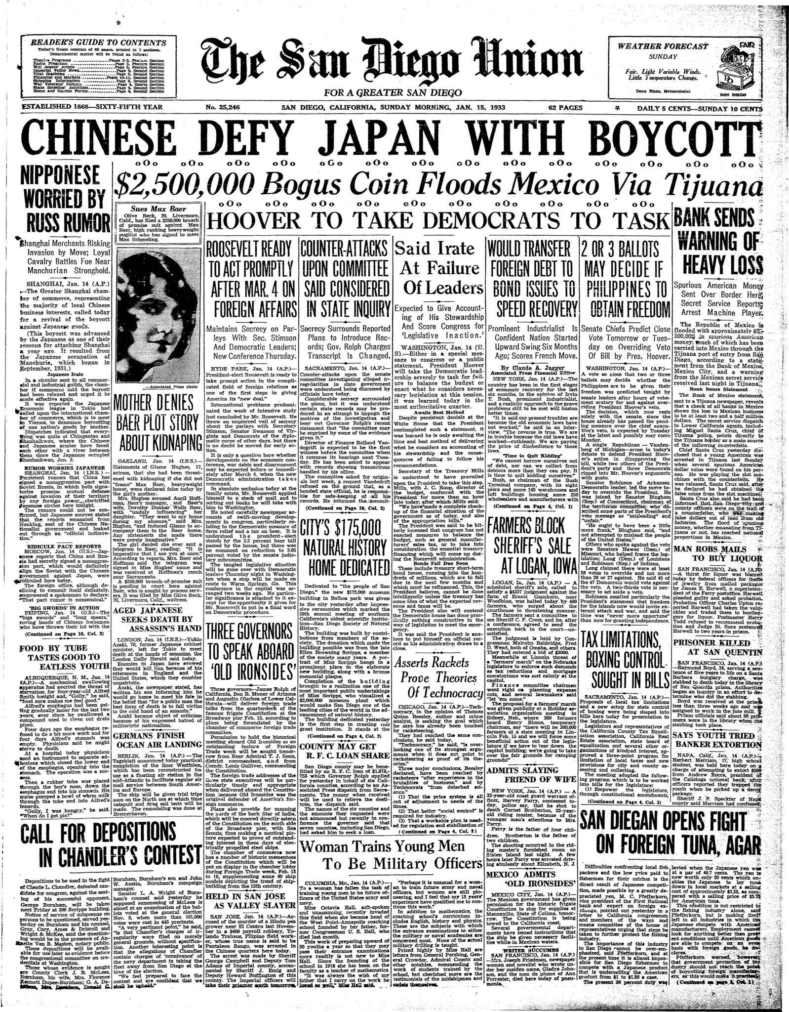 January 15, 1933