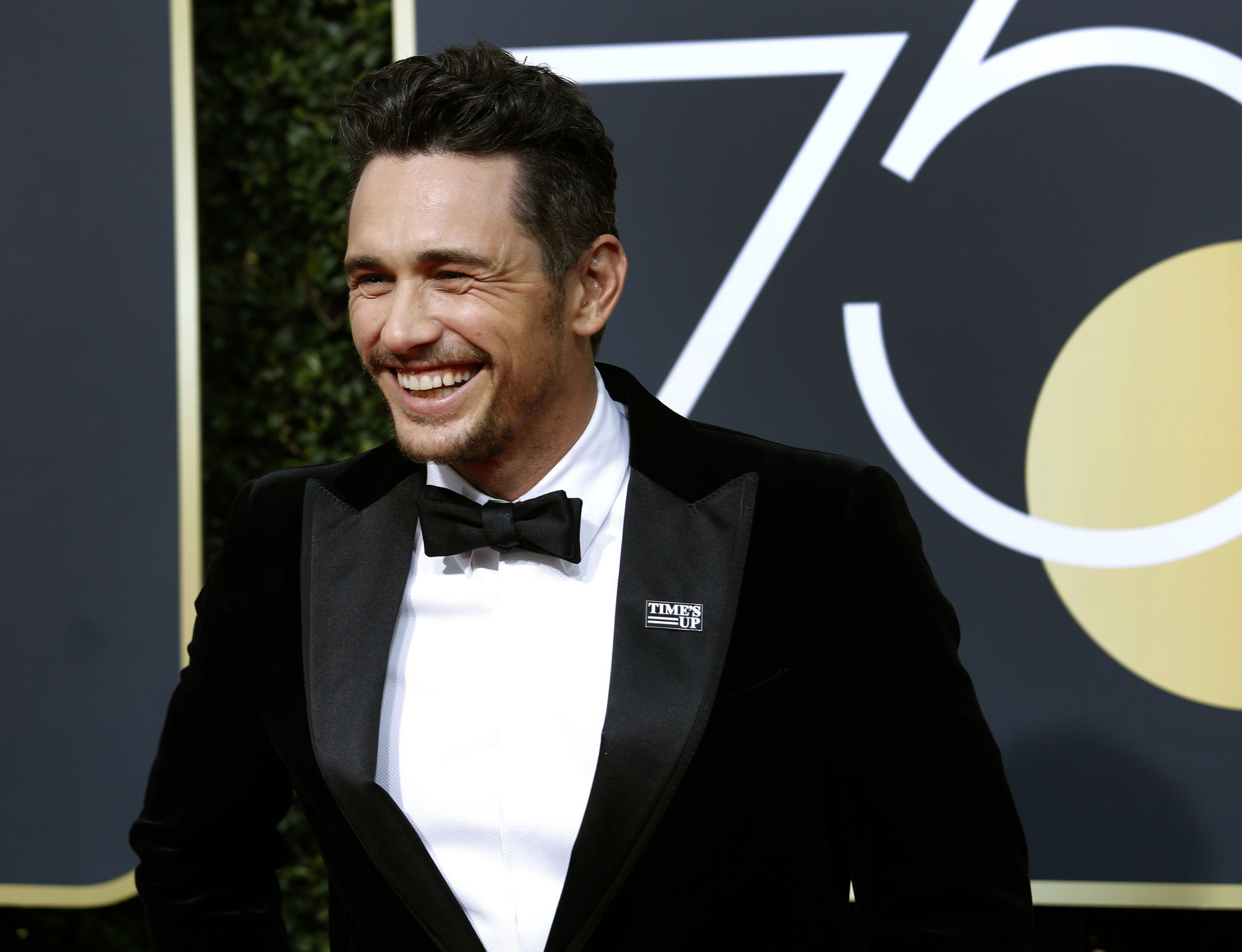 BEVERLY HILLS, CA - January 7, 2018-James Franco appears at the Golden Globe Awards wearing a Time's