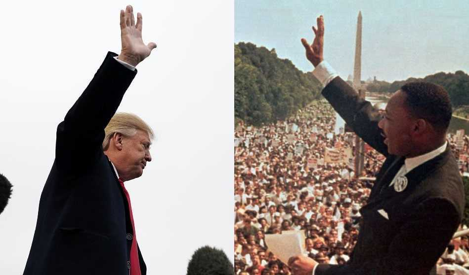 President Trump and Martin Luther King Jr.
