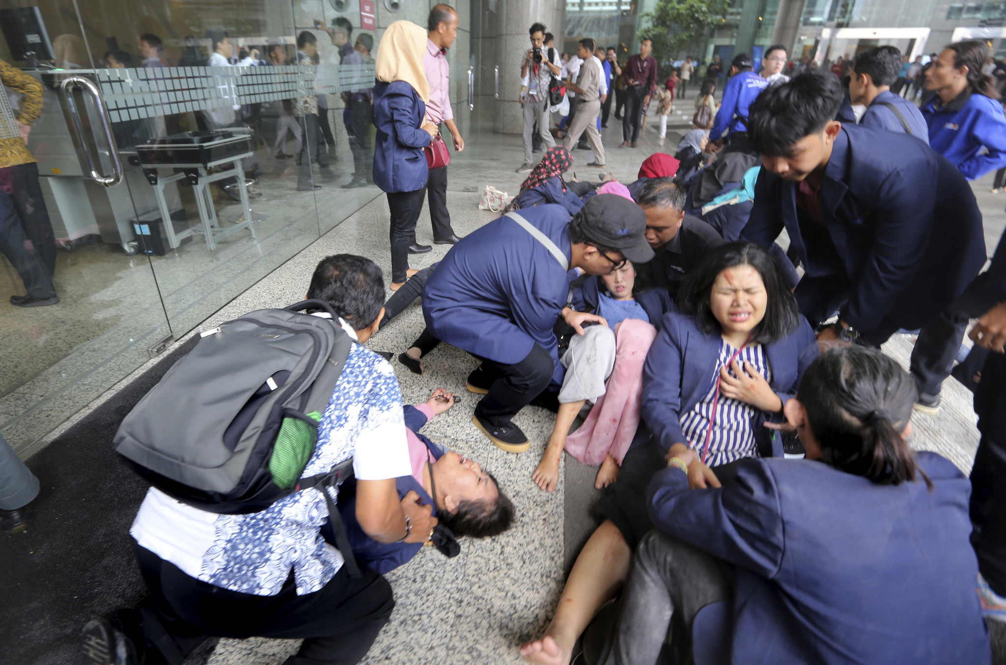 Floor Collapses Inside Jakarta Stock Exchange Injuring