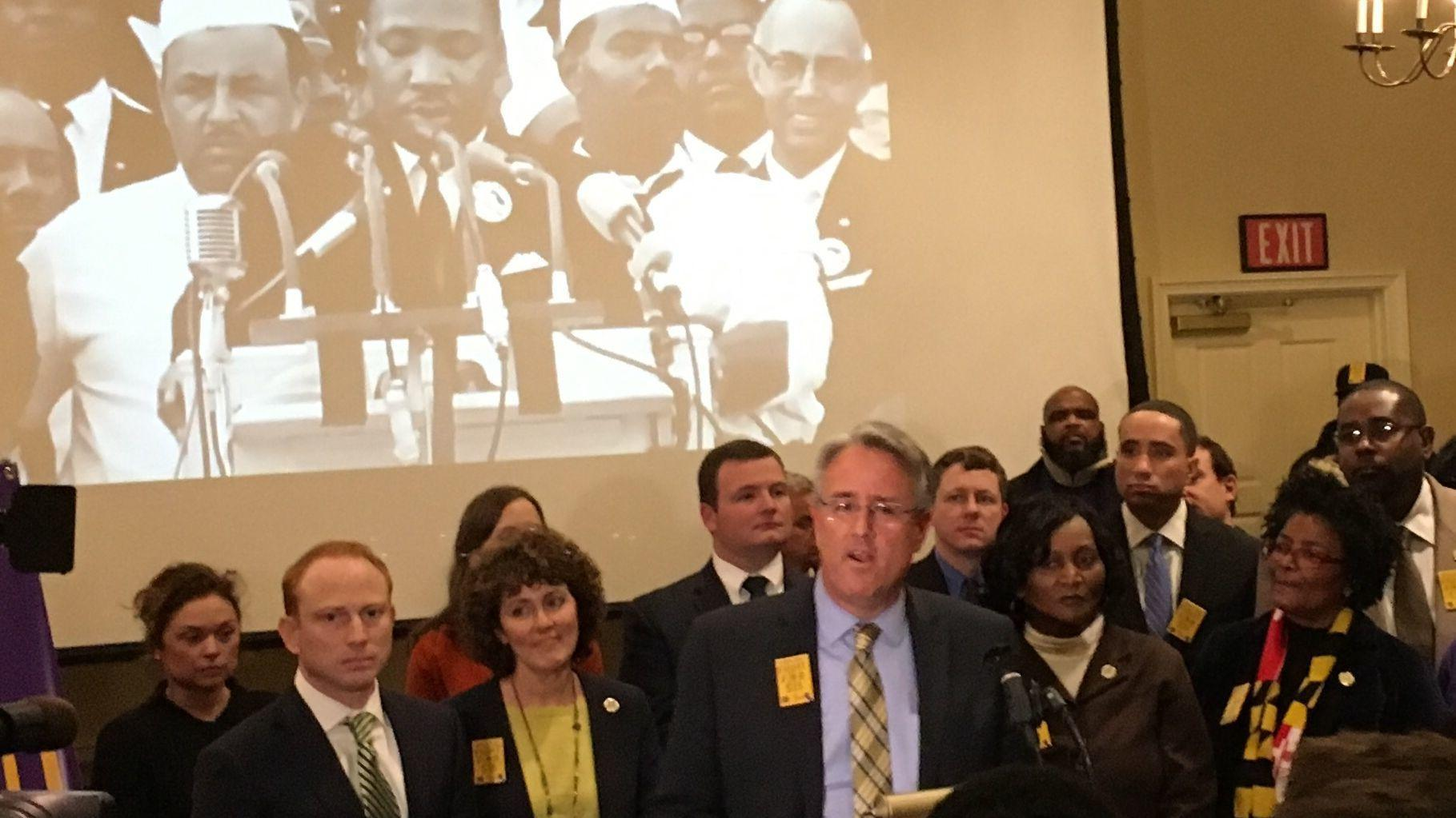 - Wage Statewide Unions Baltimore Sun Launch Minimum Push Democrats For 15