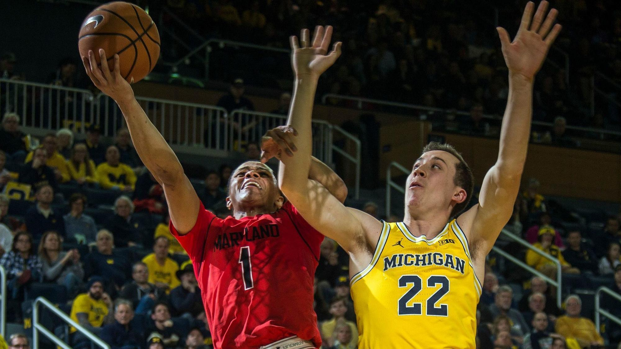 Image result for maryland vs michigan basketball