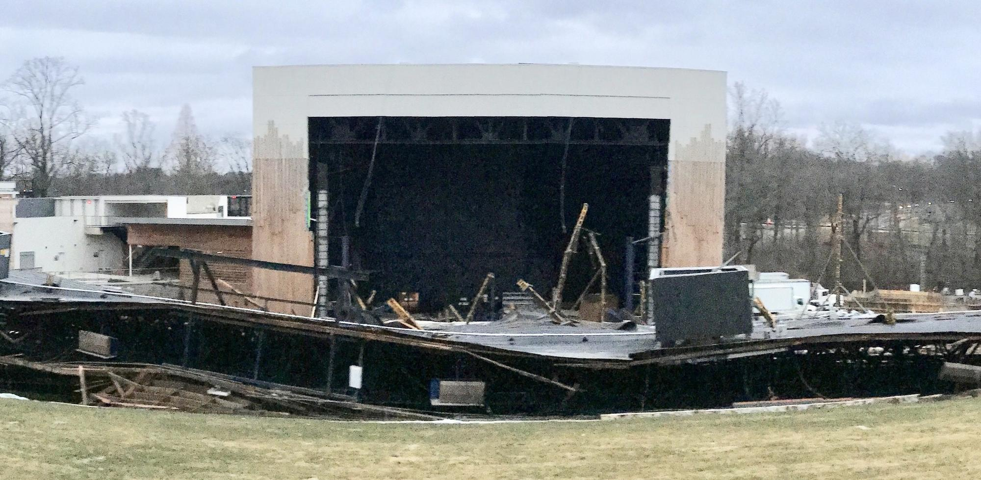 After Roof Collapse Merriweather Post Pavilion Plans To