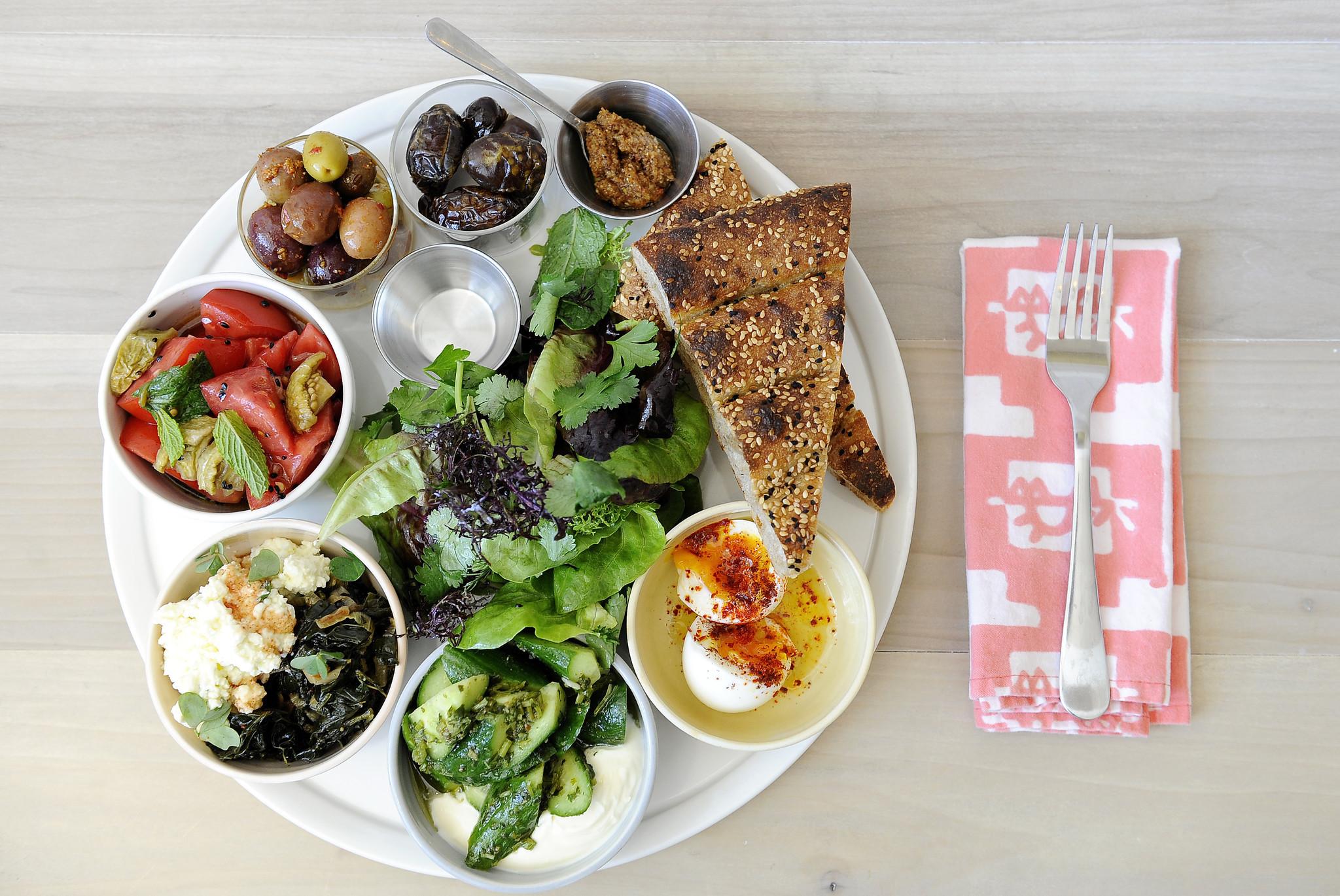 LOS FELIZ, CA- April 21, 2017: The Turk-ish Breakfast at Kismeton Friday, April 21, 2017. (Mariah Ta