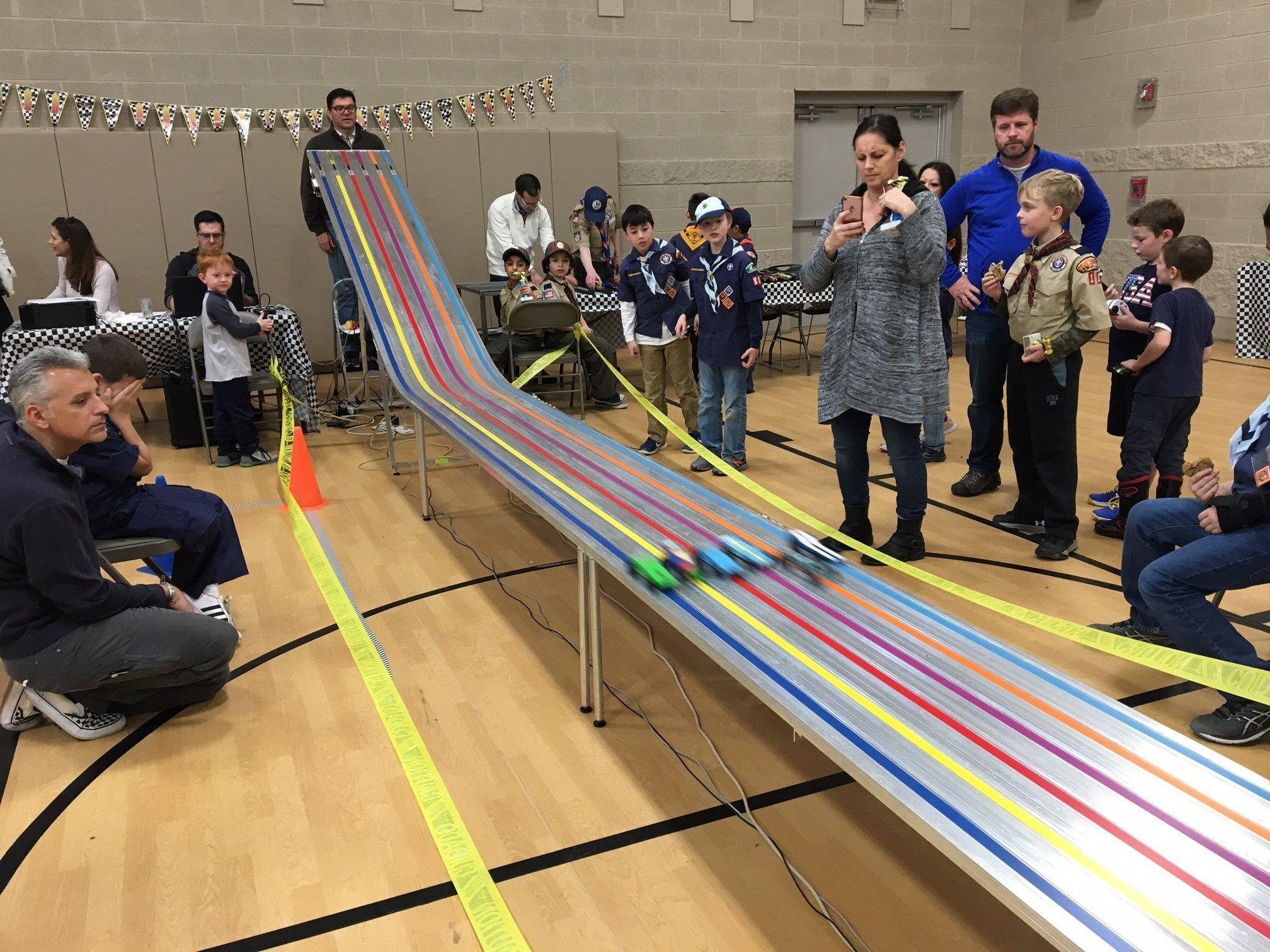 Teamwork Goes Into Cub Scouts Pinewood Derby