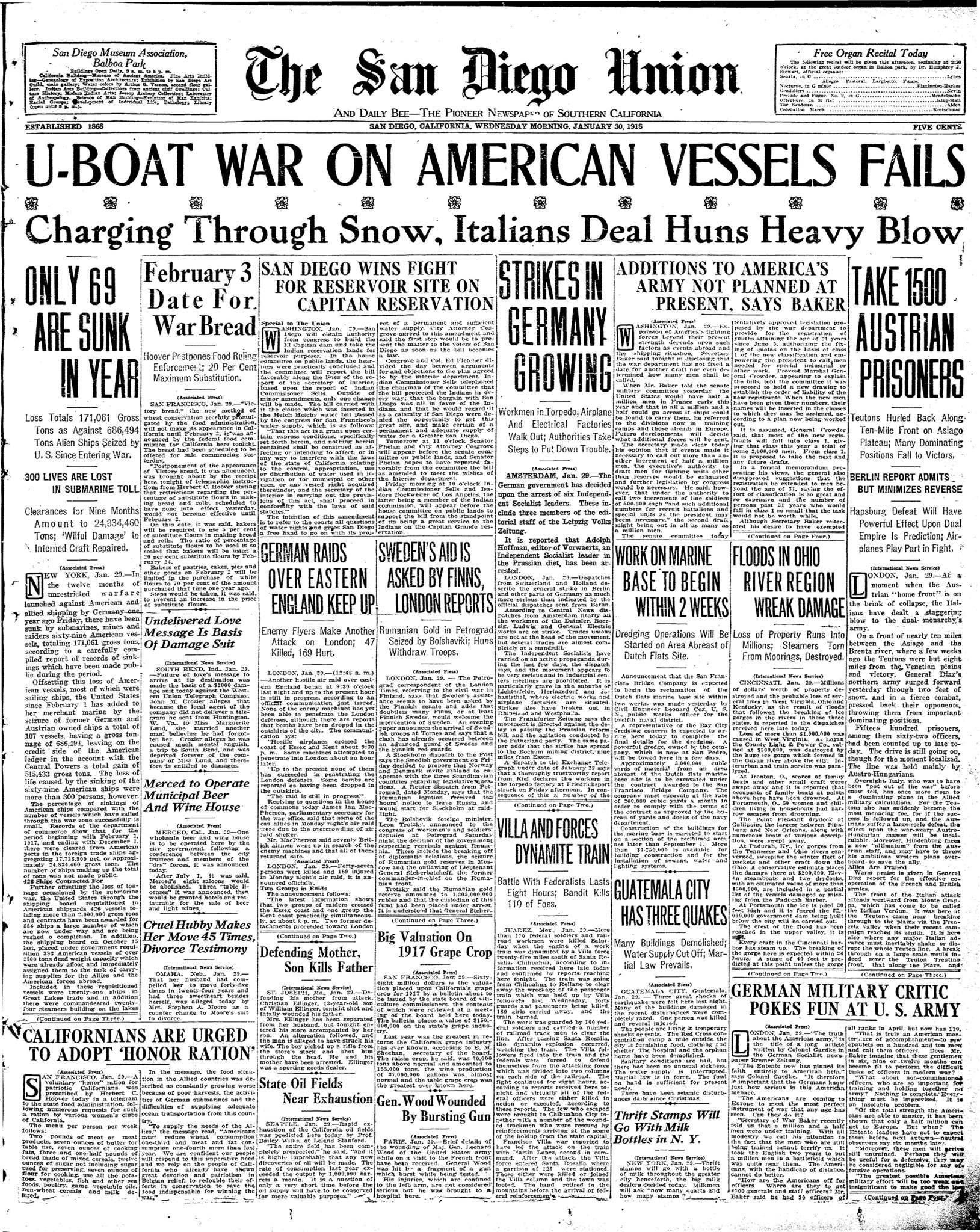 January 30, 1918