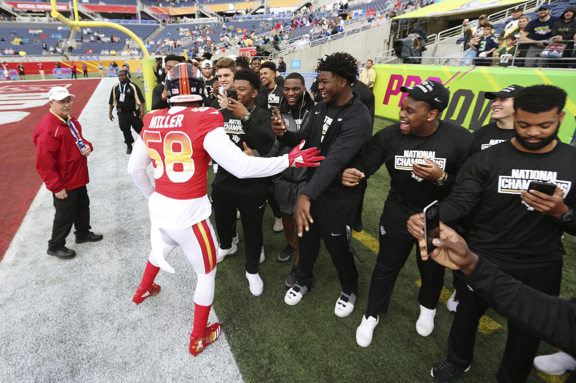 The undefeated UCF football team continued its magical victory tour Sunday  at the Pro Bowl at Camping World Stadium. The Knights 6c8f2295d