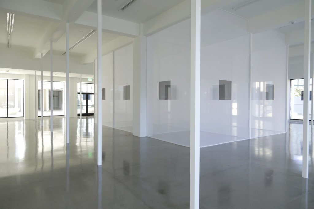 Robert Irwin's new, yet-to-be-titled installation at Sprüth Magers gallery.