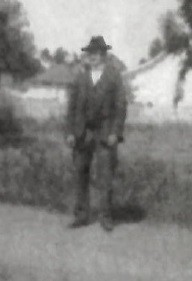 The only known photo of Paul Landis, date unknown, shows him standing on an unpaved Girard Avenue.