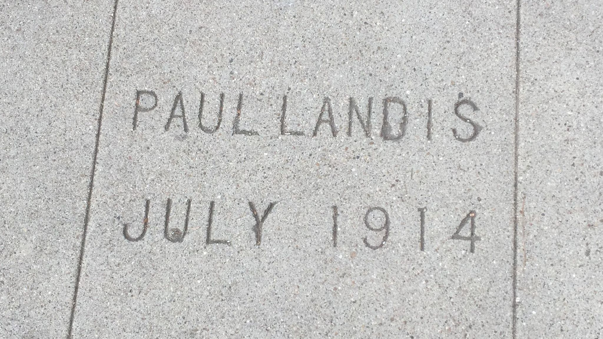 The Paul Landis sidewalk stamp evolves.