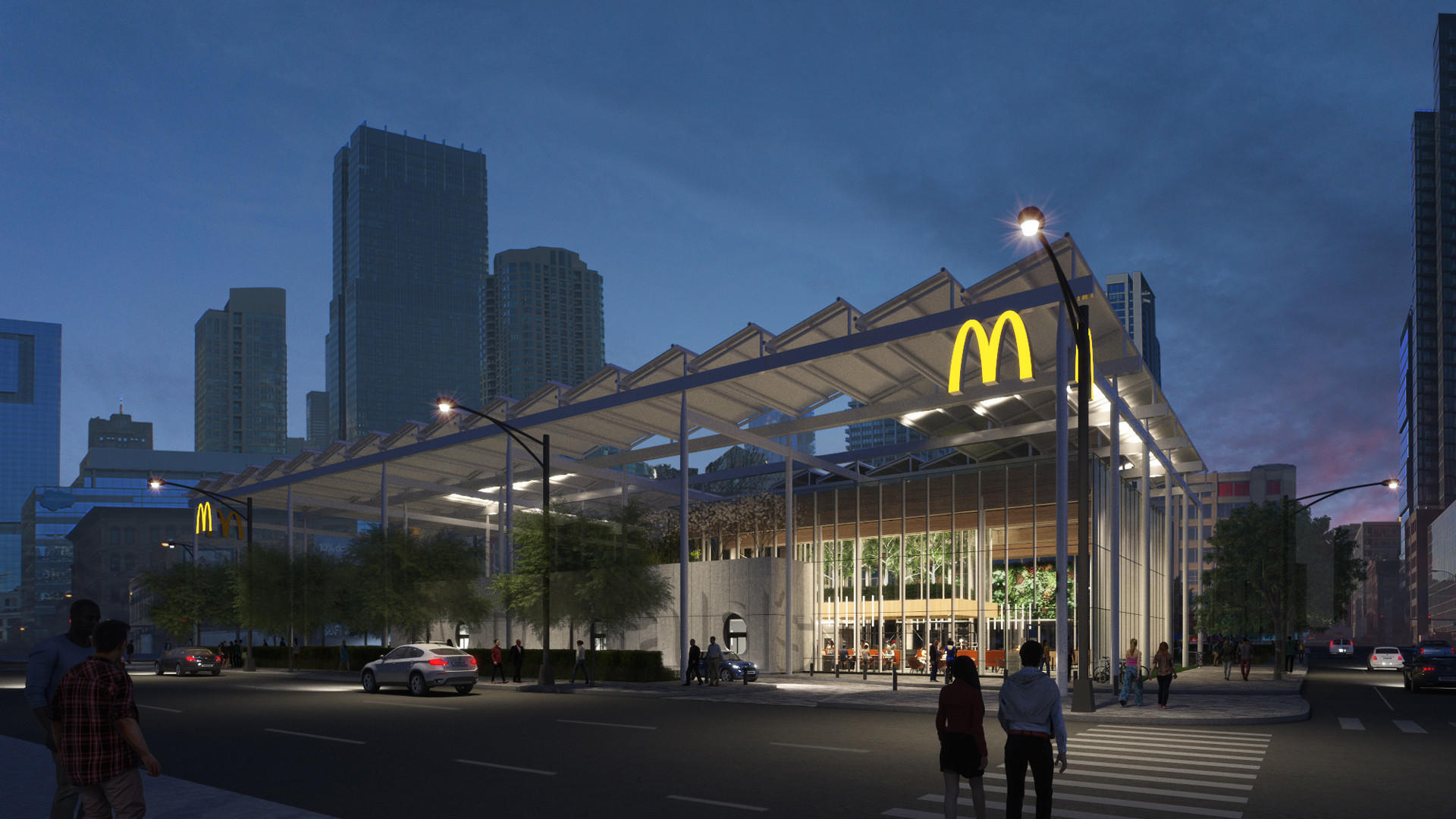 Former Rock 'n' Roll McDonald's gets new eco-friendly look ...