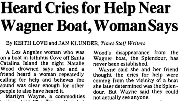 how the times covered natalie wood 39 s mysterious death in 1981 los angeles times. Black Bedroom Furniture Sets. Home Design Ideas