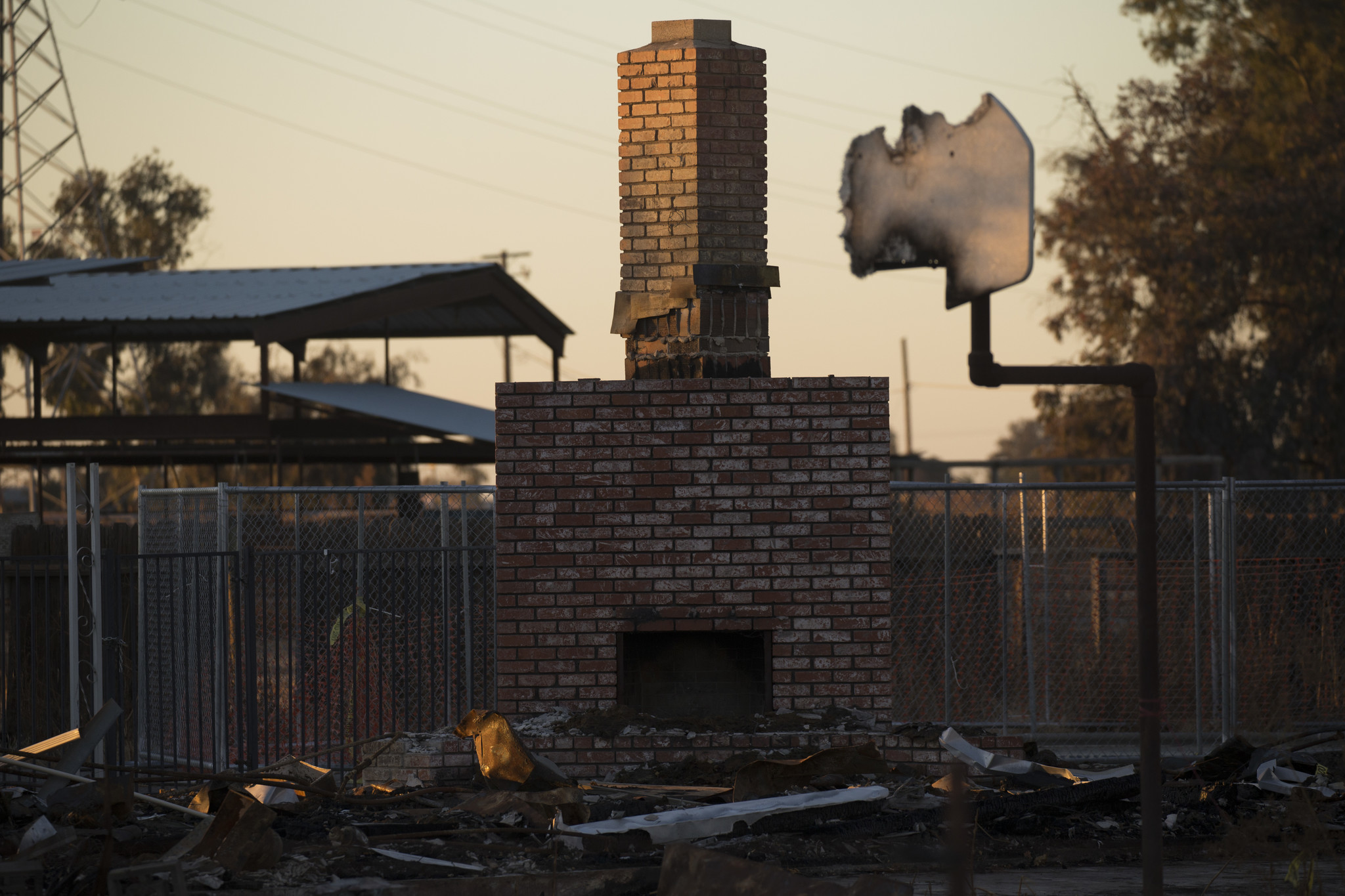 CORCORAN, CA - DECEMBER 20: The remnants of Charlene Hook's home, photographed on December 20, 2017