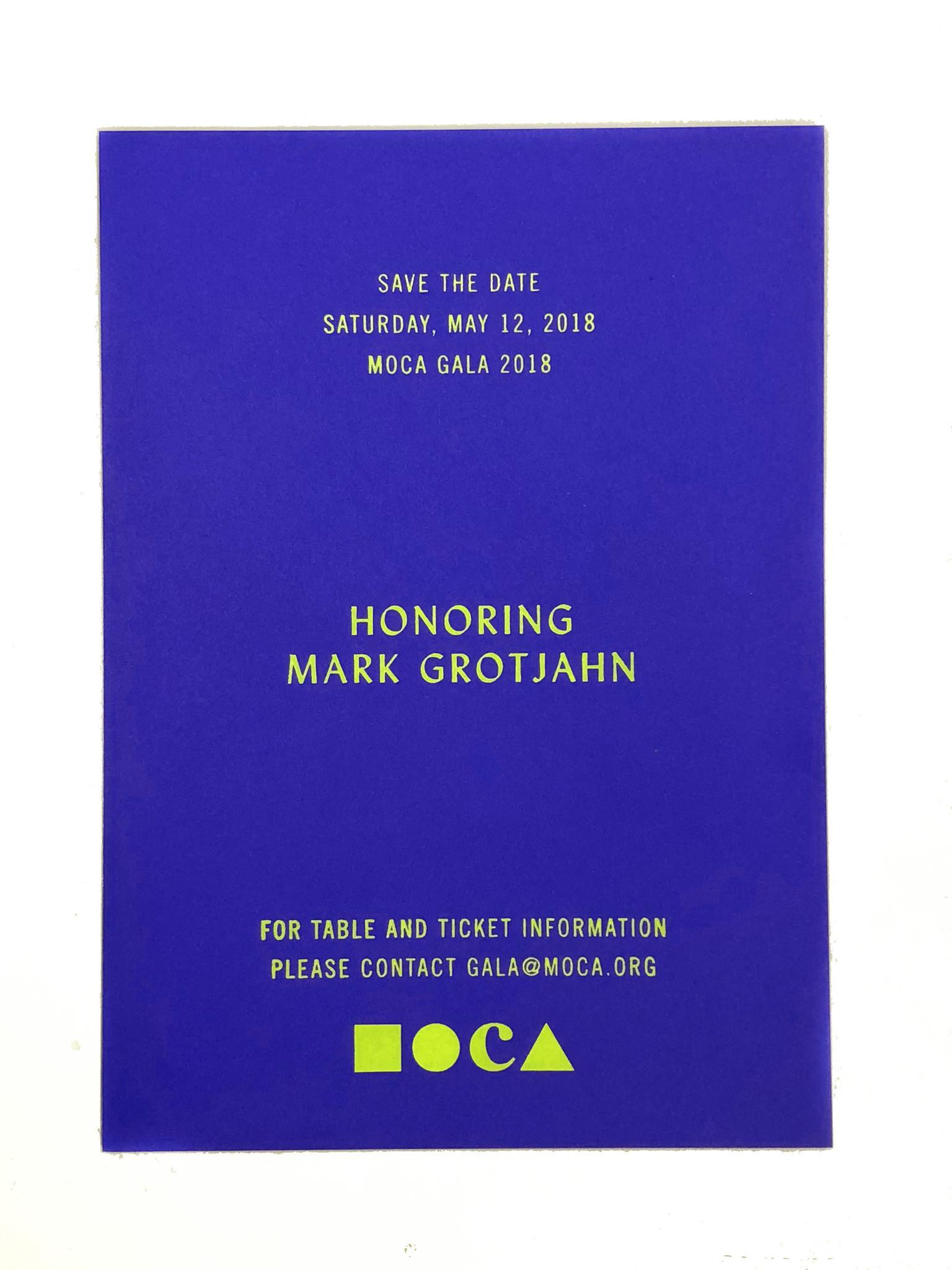 MOCA and Mark Grotjahn