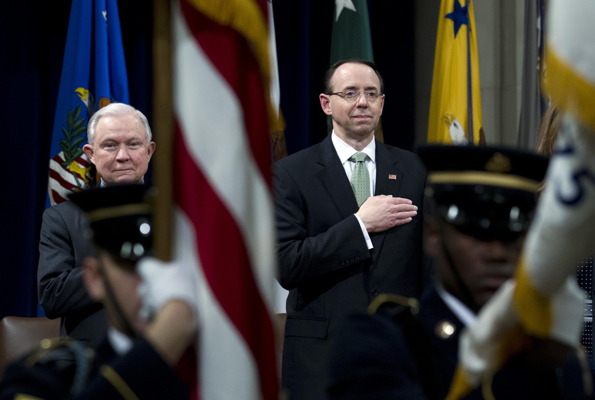 Deputy AG Rosenstein under increasing pressure as Trump ...