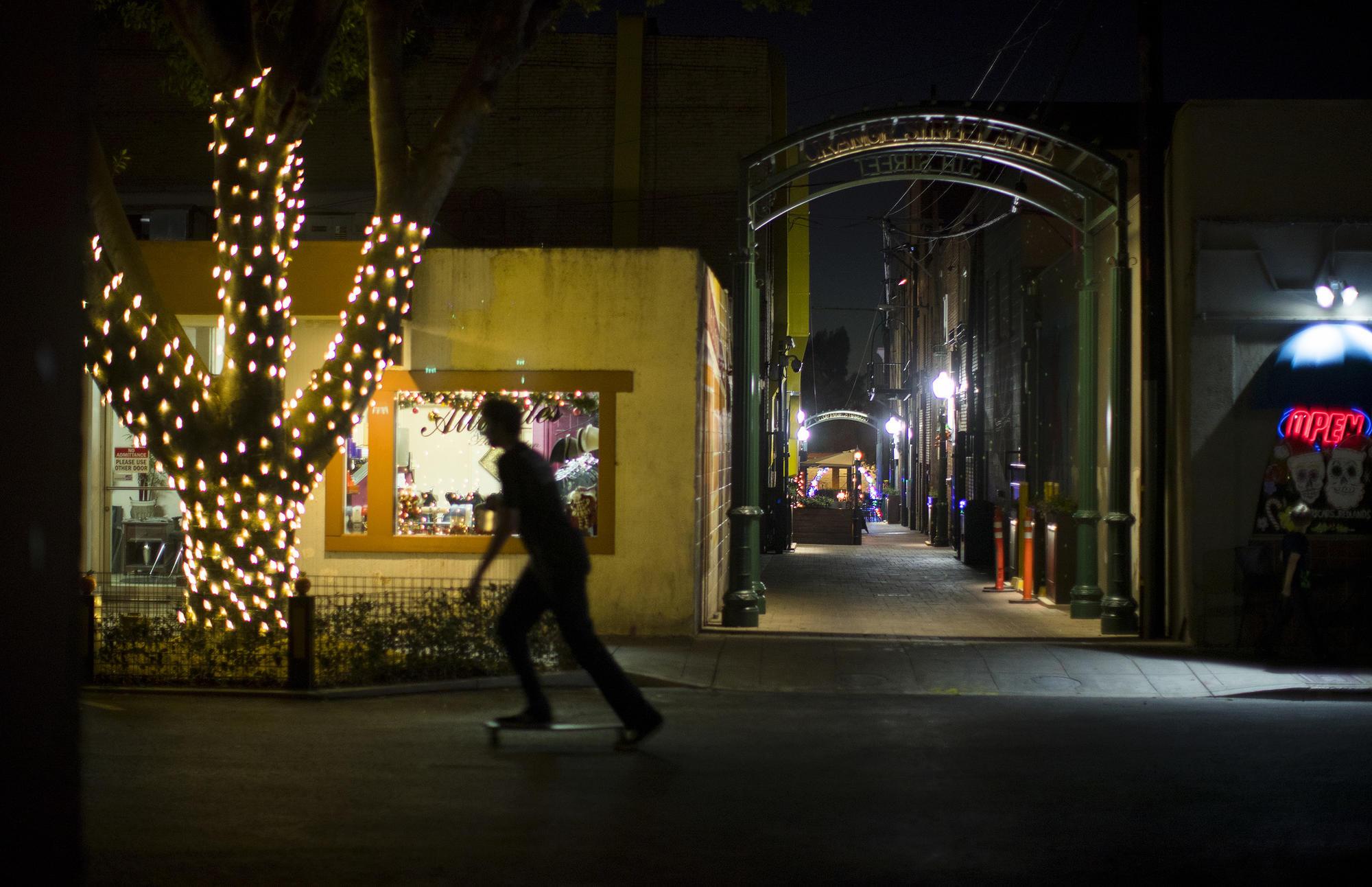 Orange Street Alley in downtown Redland