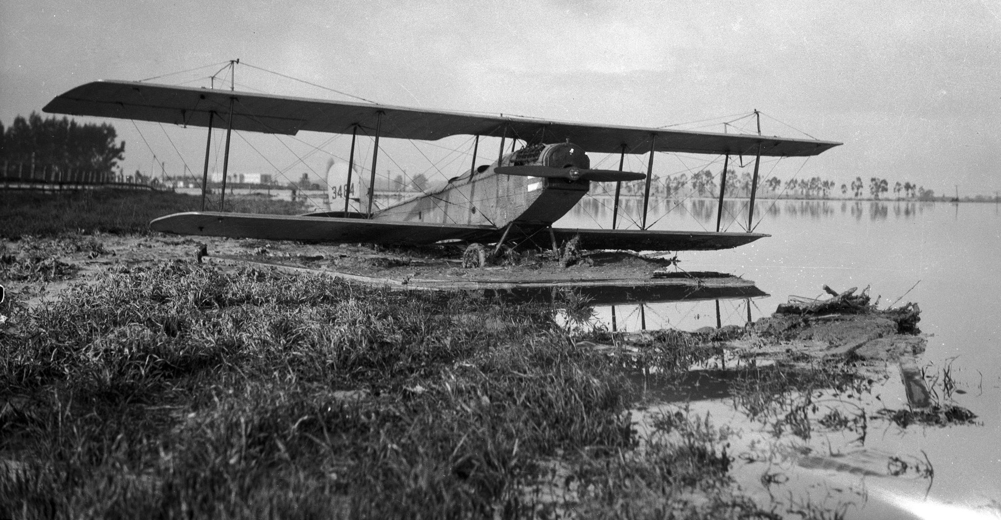 March 1928: View of a Curtiss JN-4