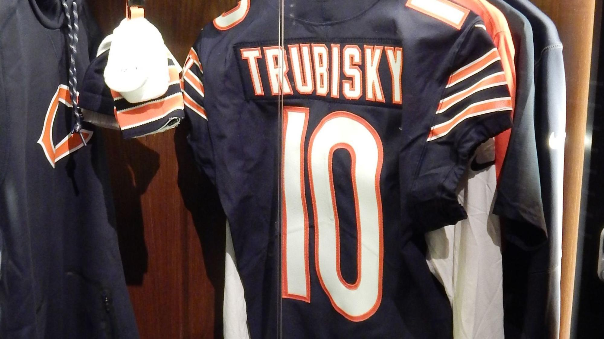 269853d3699 Mitch Trubisky (well, his jersey) is in the Pro Football Hall of .