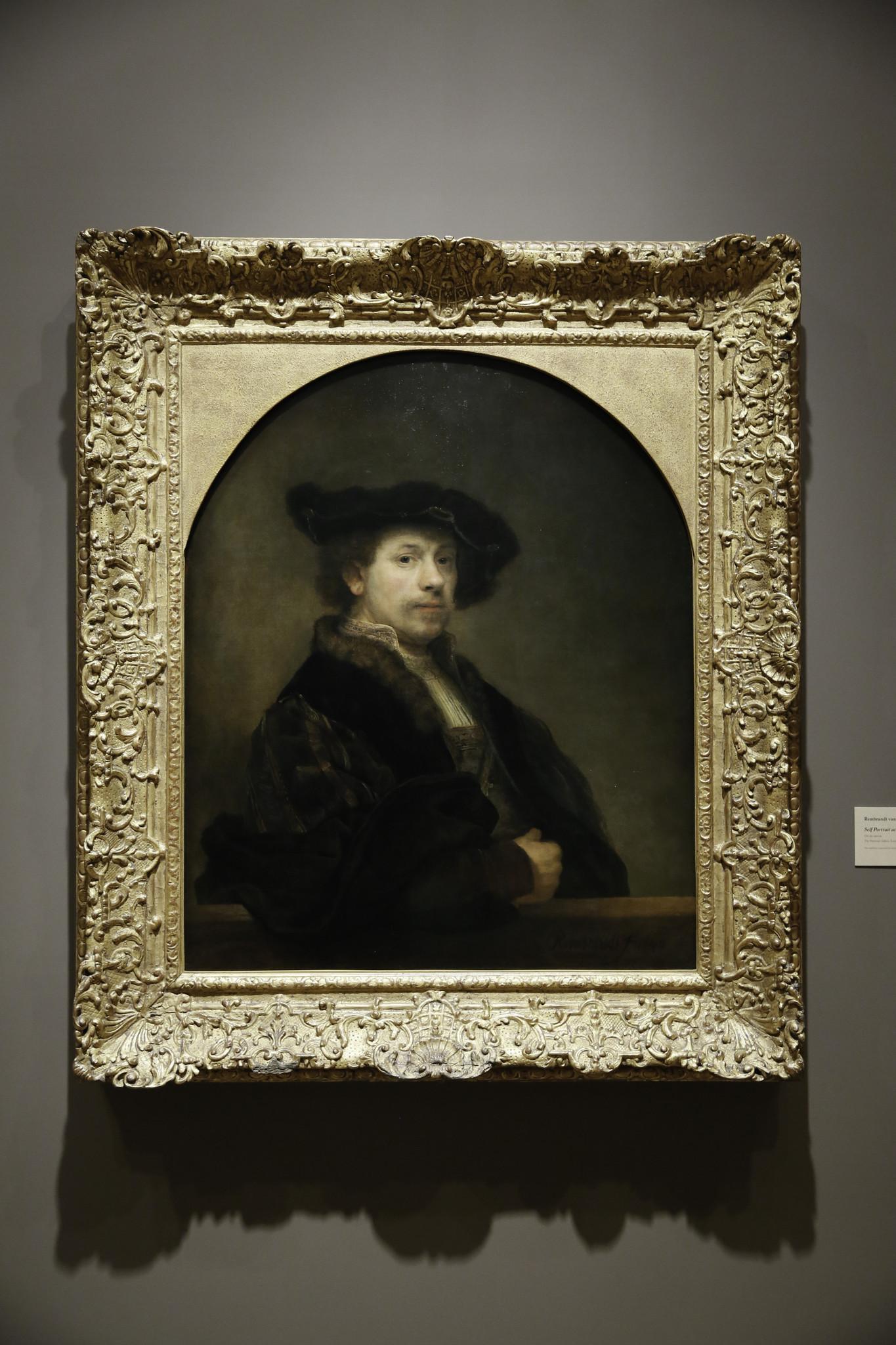 Rembrandt self-portrait at the Norton Simon