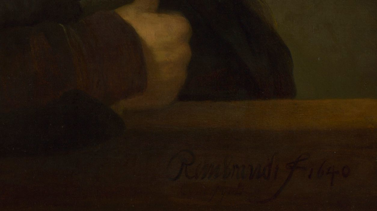 A photograph of Rembrandt's