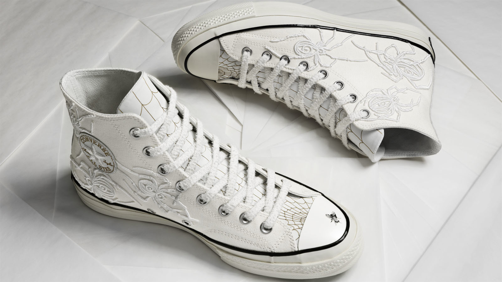 Tattoo artist Dr. Woo collaborated with Converse on a line of sneakers treated with his distinctive art.
